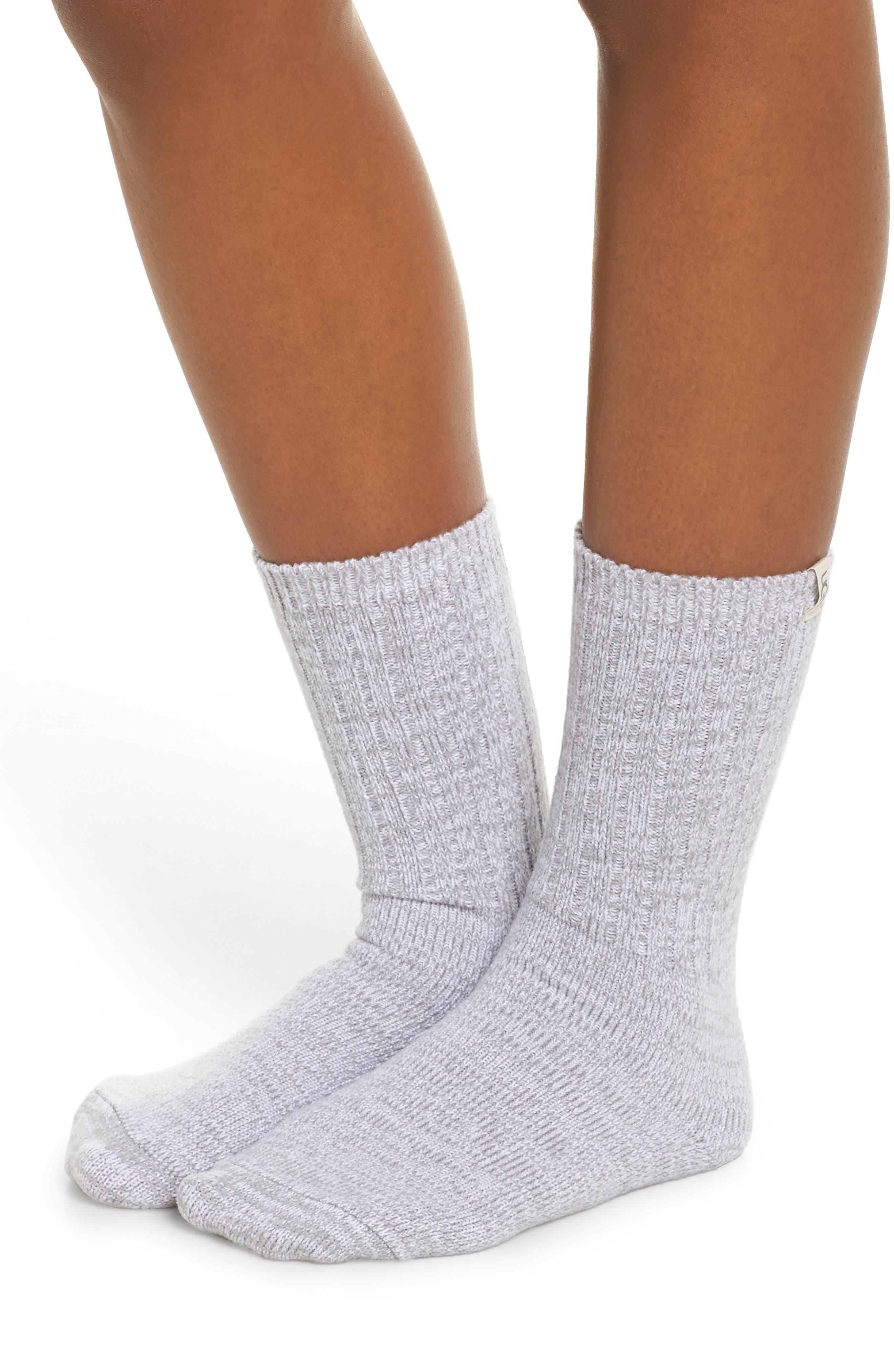 Sleep Shirt & Socks Set,                             Alternate thumbnail 4, color,                             LAVENDER AURA PLAID