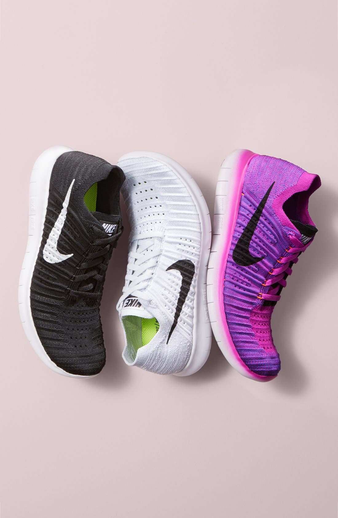 'Free Flyknit' Running Shoe,                             Alternate thumbnail 3, color,                             405