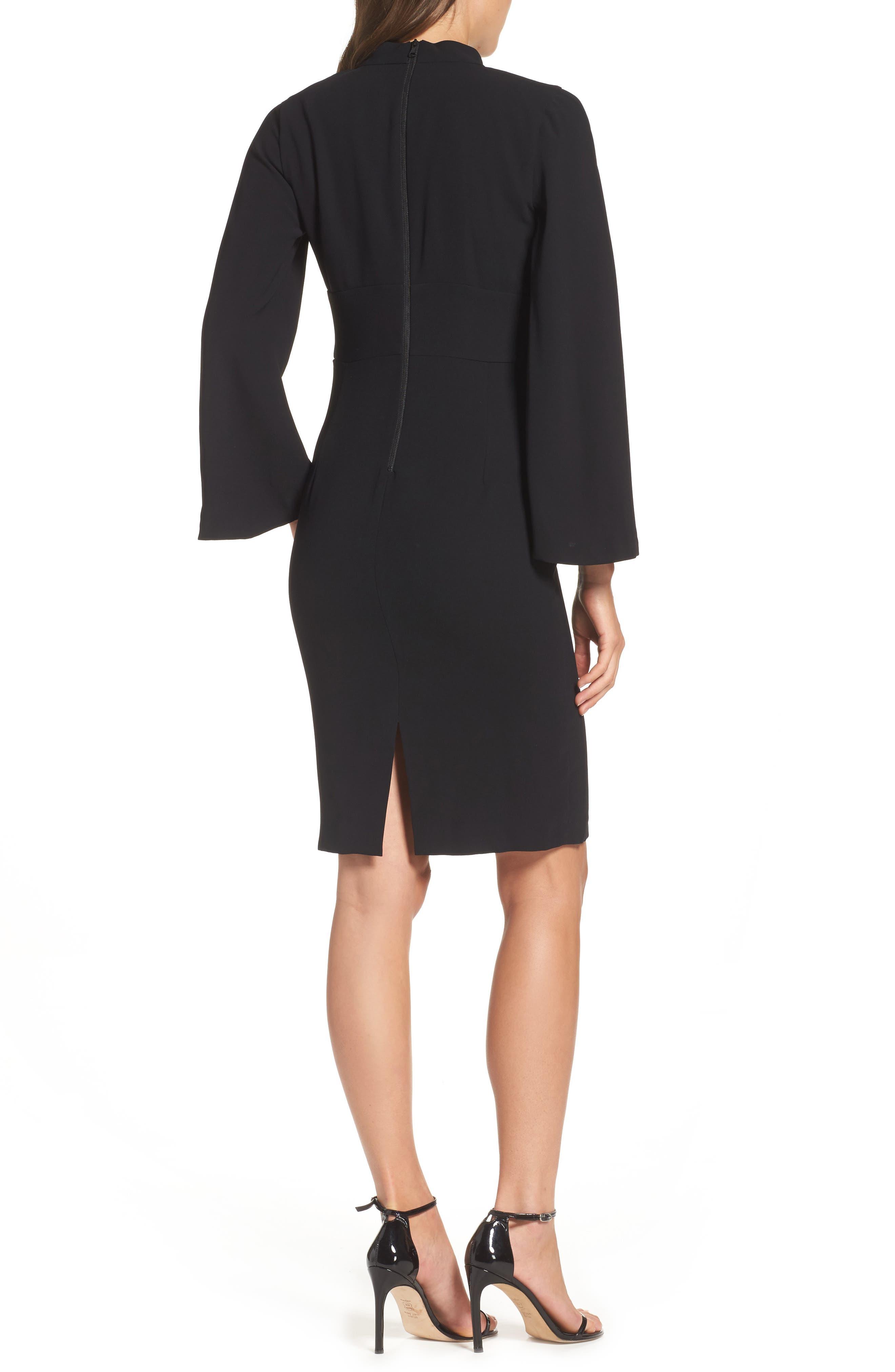 Drape Sleeve Cutout Sheath Dress,                             Alternate thumbnail 2, color,