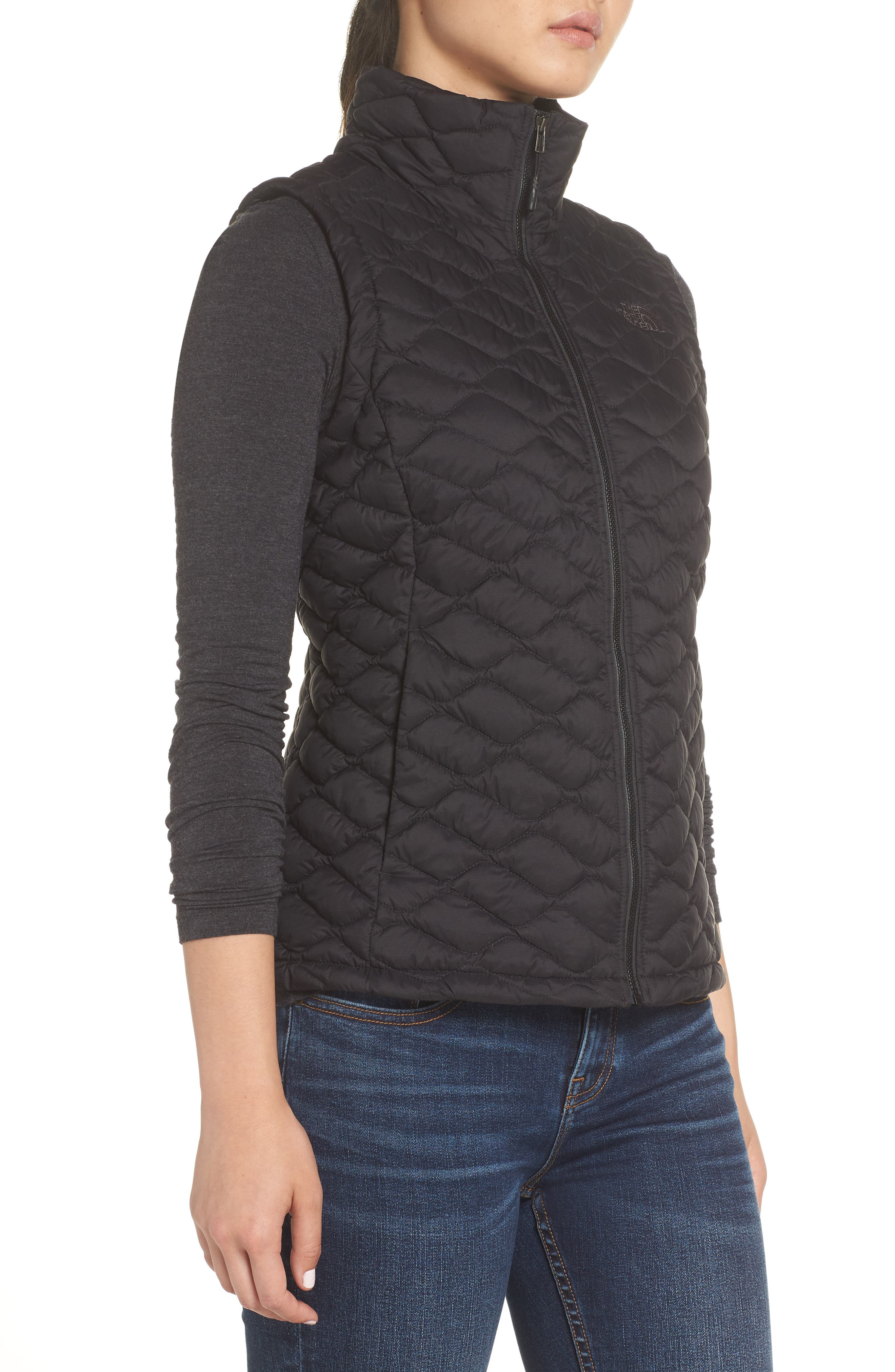 THE NORTH FACE,                             ThermoBall<sup>™</sup> PrimaLoft<sup>®</sup> Vest,                             Alternate thumbnail 3, color,                             TNF BLACK MATTE