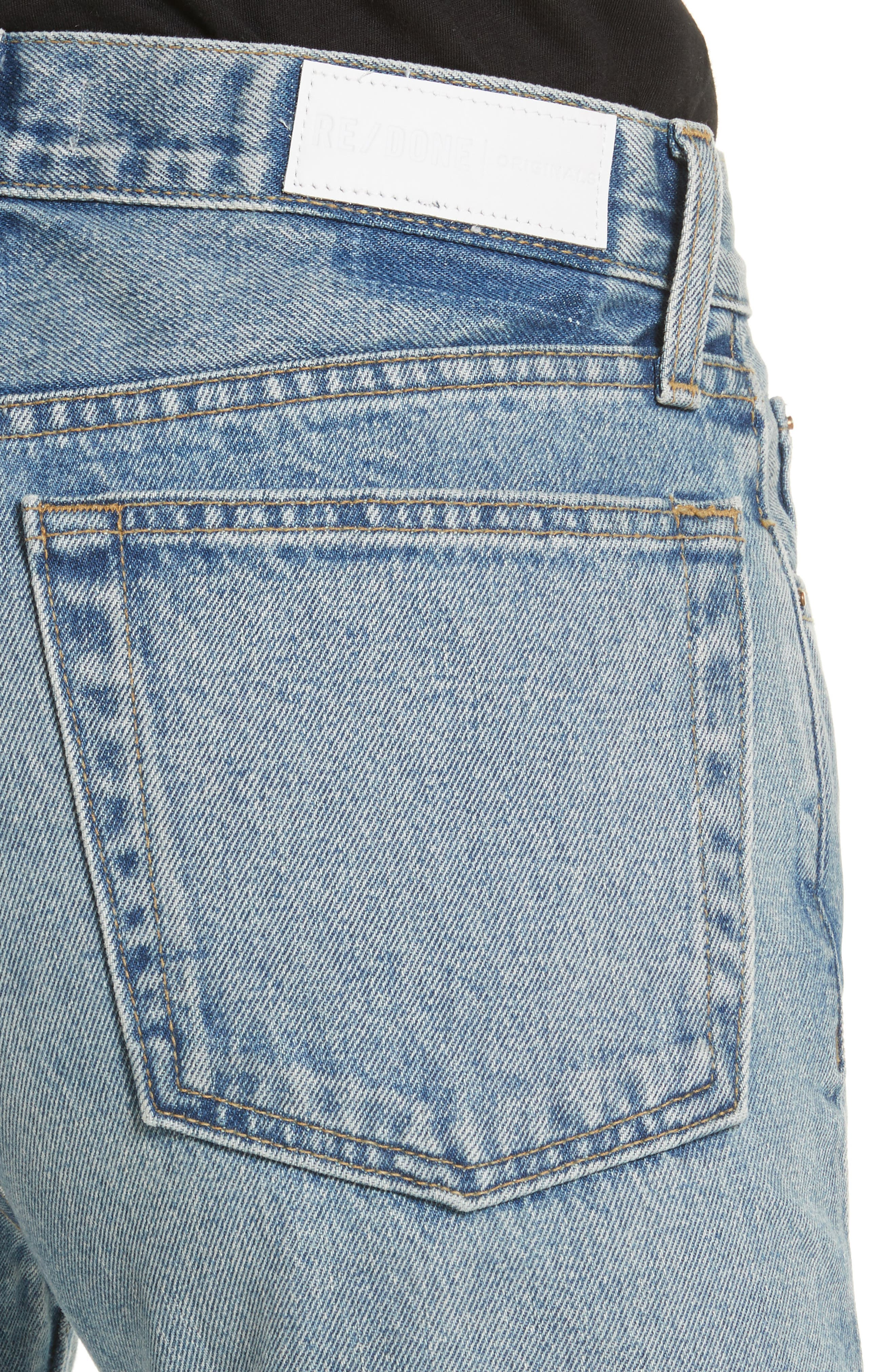 RE/DONE,                             High Waist Stove Pipe Jeans,                             Alternate thumbnail 4, color,                             450
