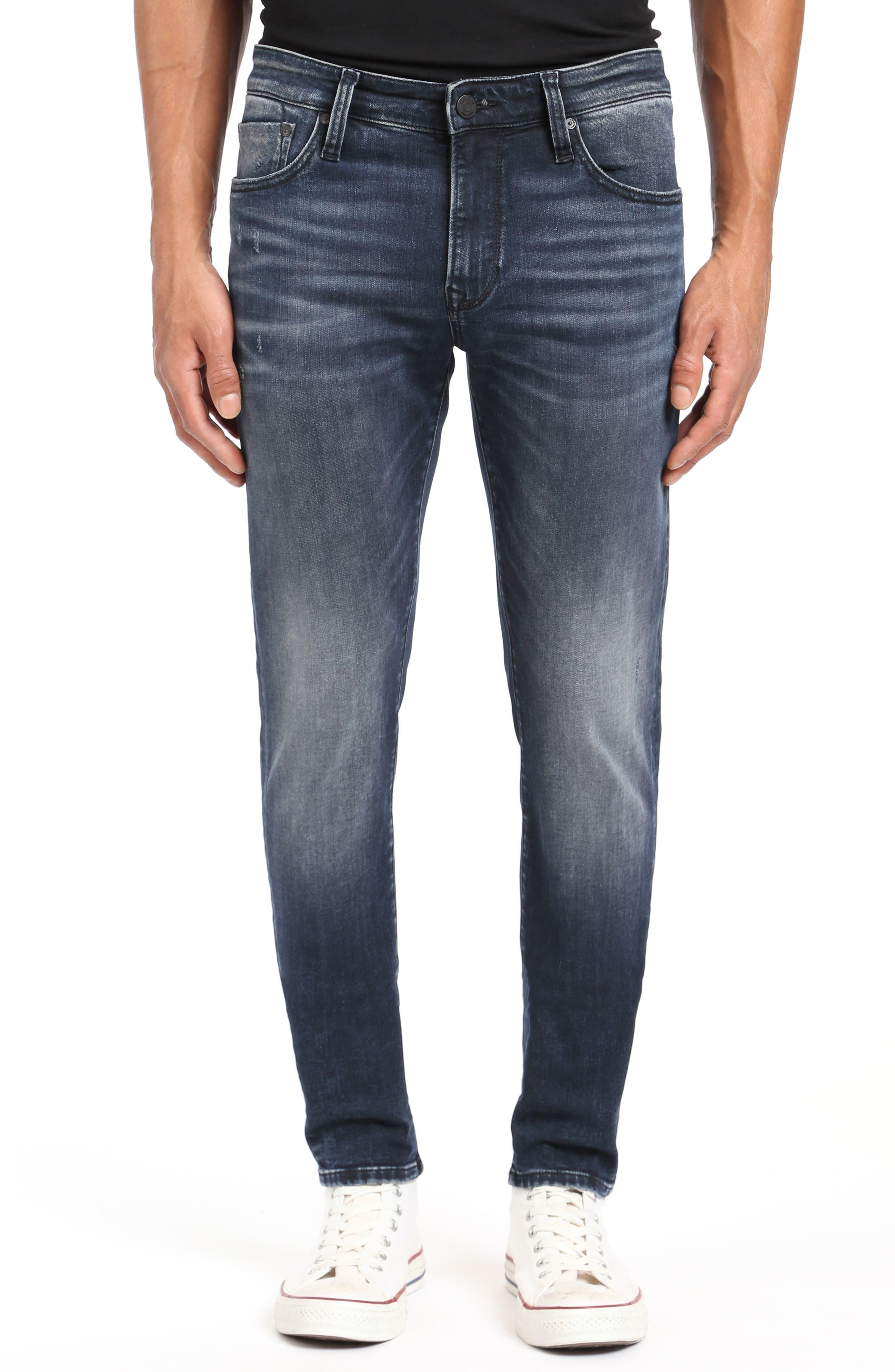 MAVI James Skinny Fit Jeans In Ink Brushed Authentic Vintage