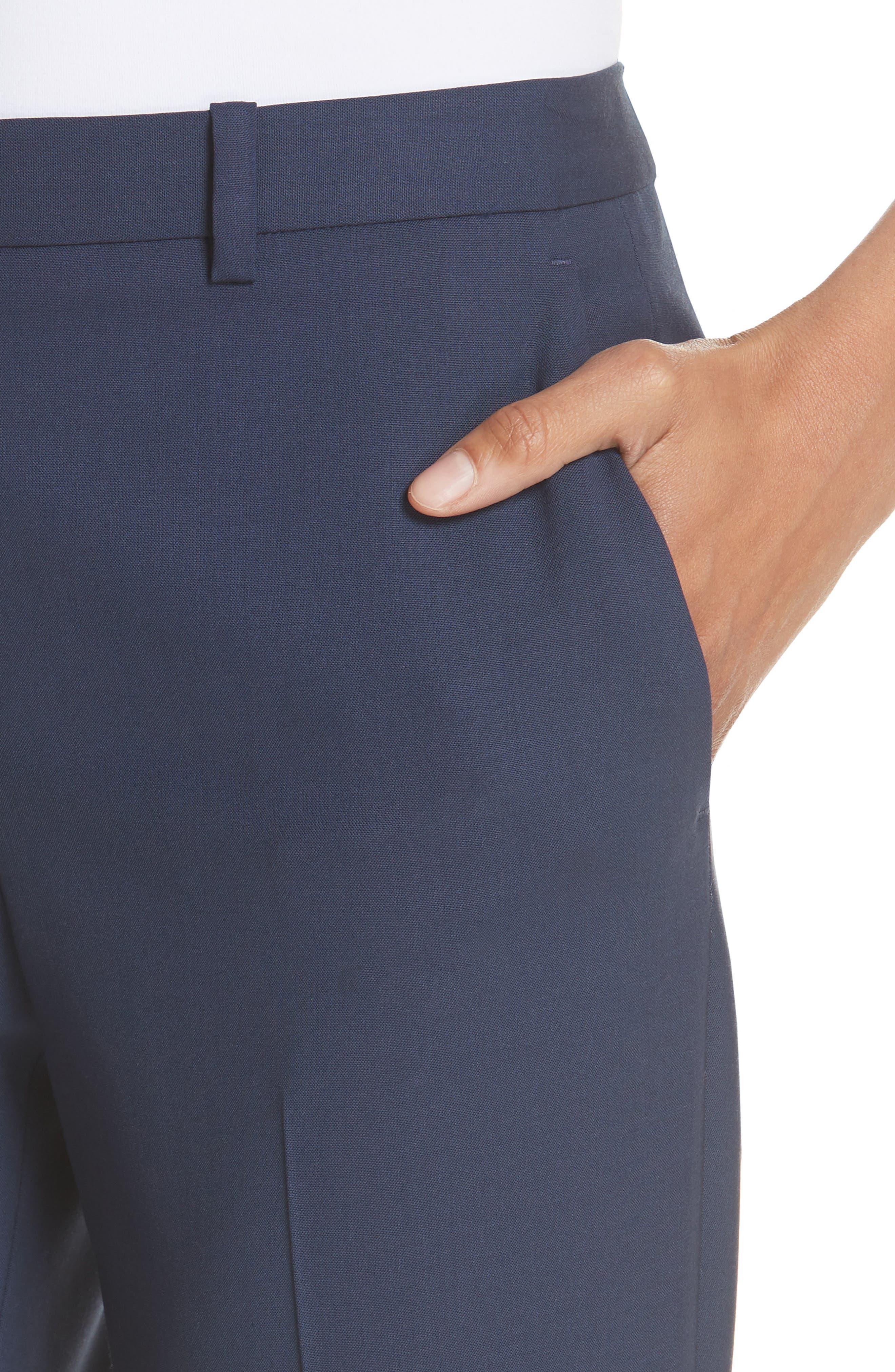 Demitria 2 Stretch Wool Suit Pants,                             Alternate thumbnail 15, color,