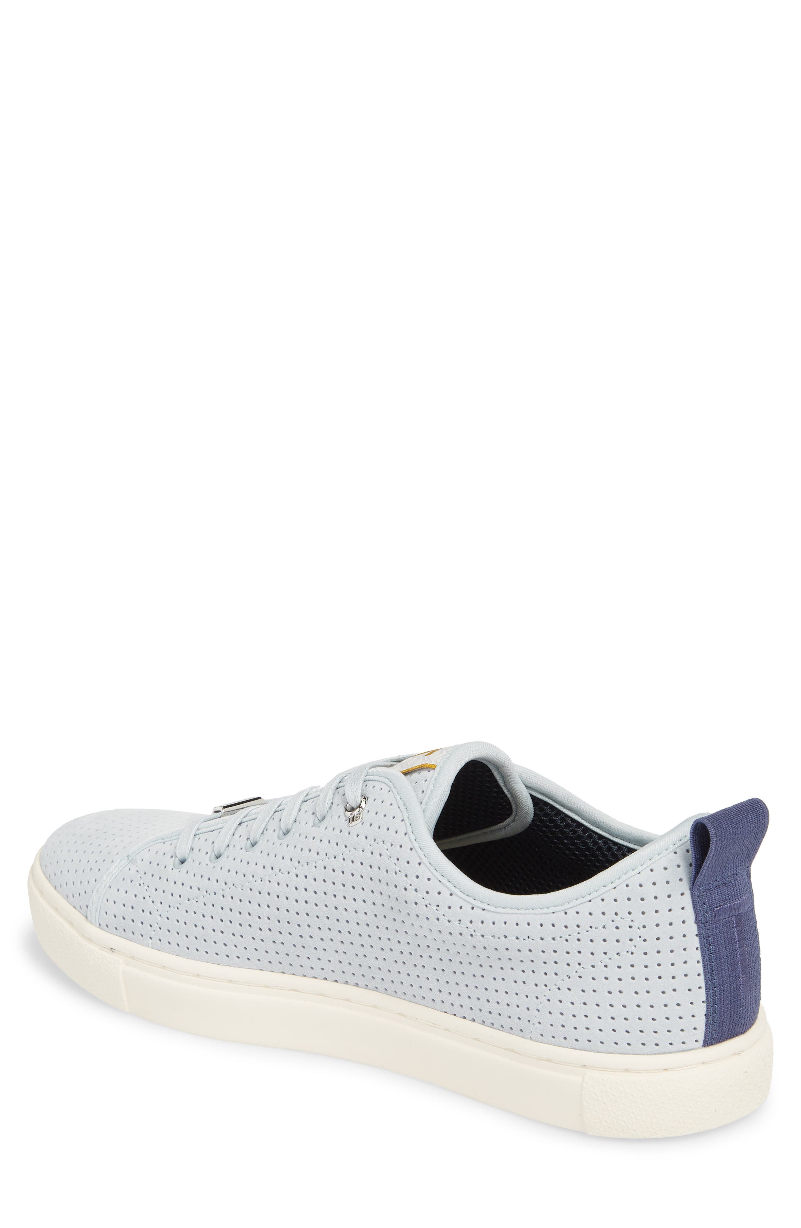 Kaliix Perforated Low Top Sneaker,                             Alternate thumbnail 2, color,                             LIGHT BLUE SUEDE