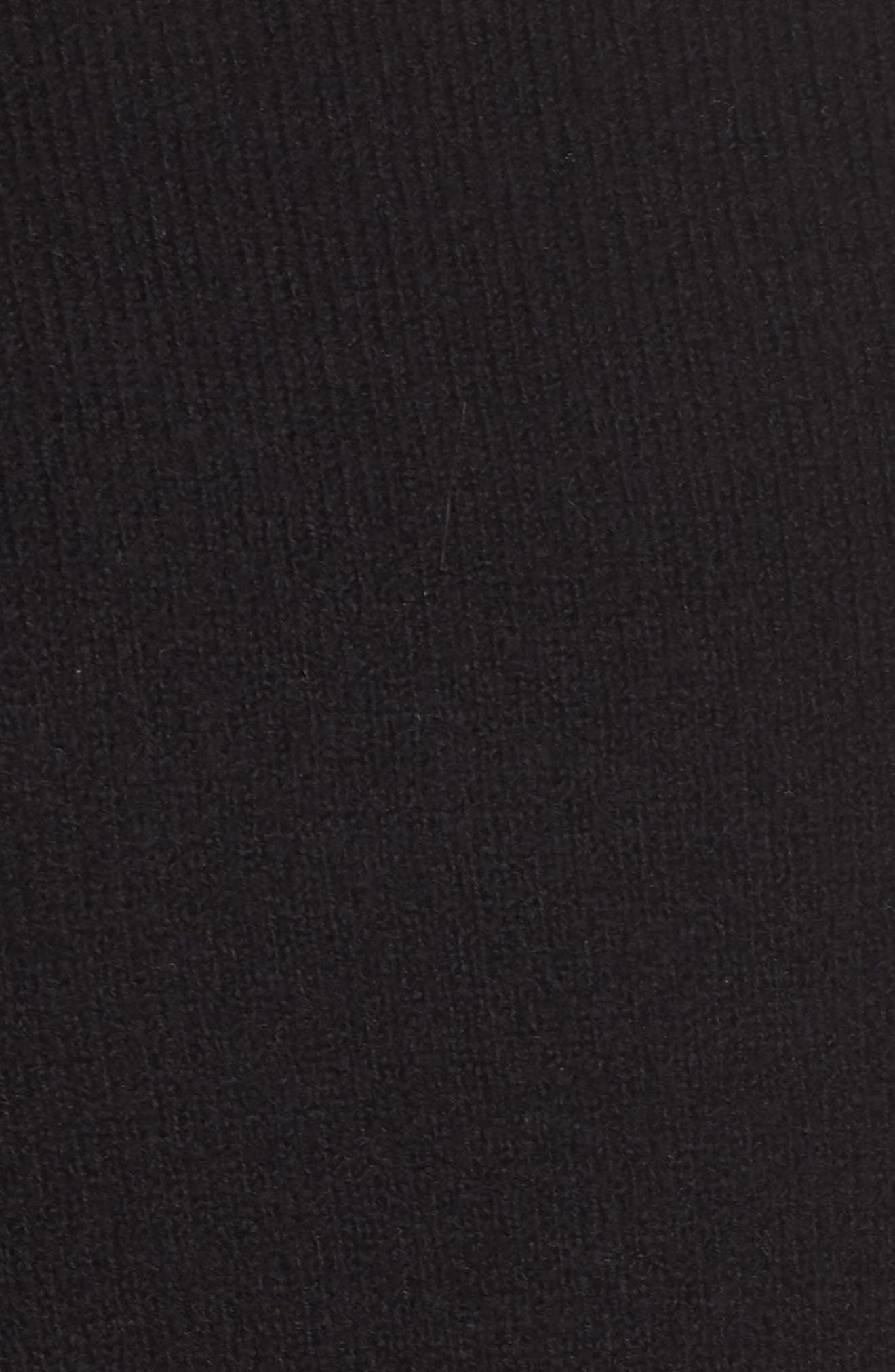 High Low Oversize Wool Blend Sweater,                             Alternate thumbnail 11, color,                             BLACK