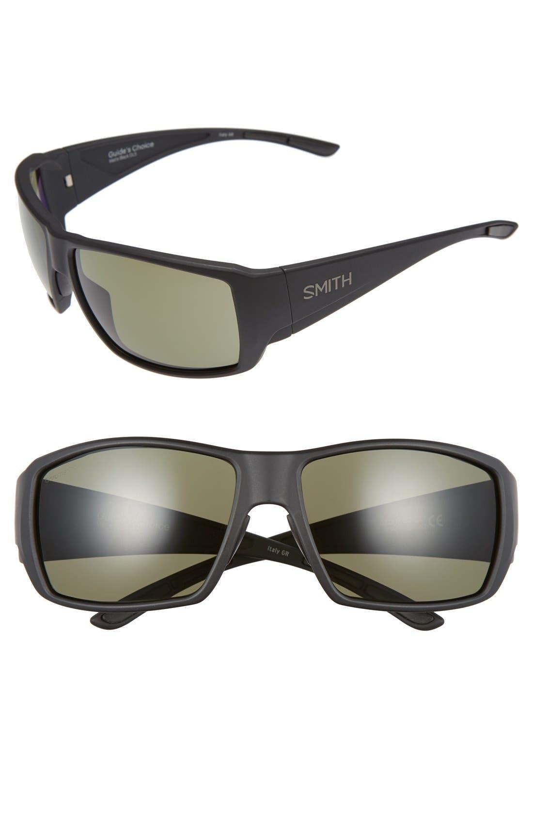'Guide's Choice' 62mm Polarized Sunglasses,                         Main,                         color, MATTE BLACK