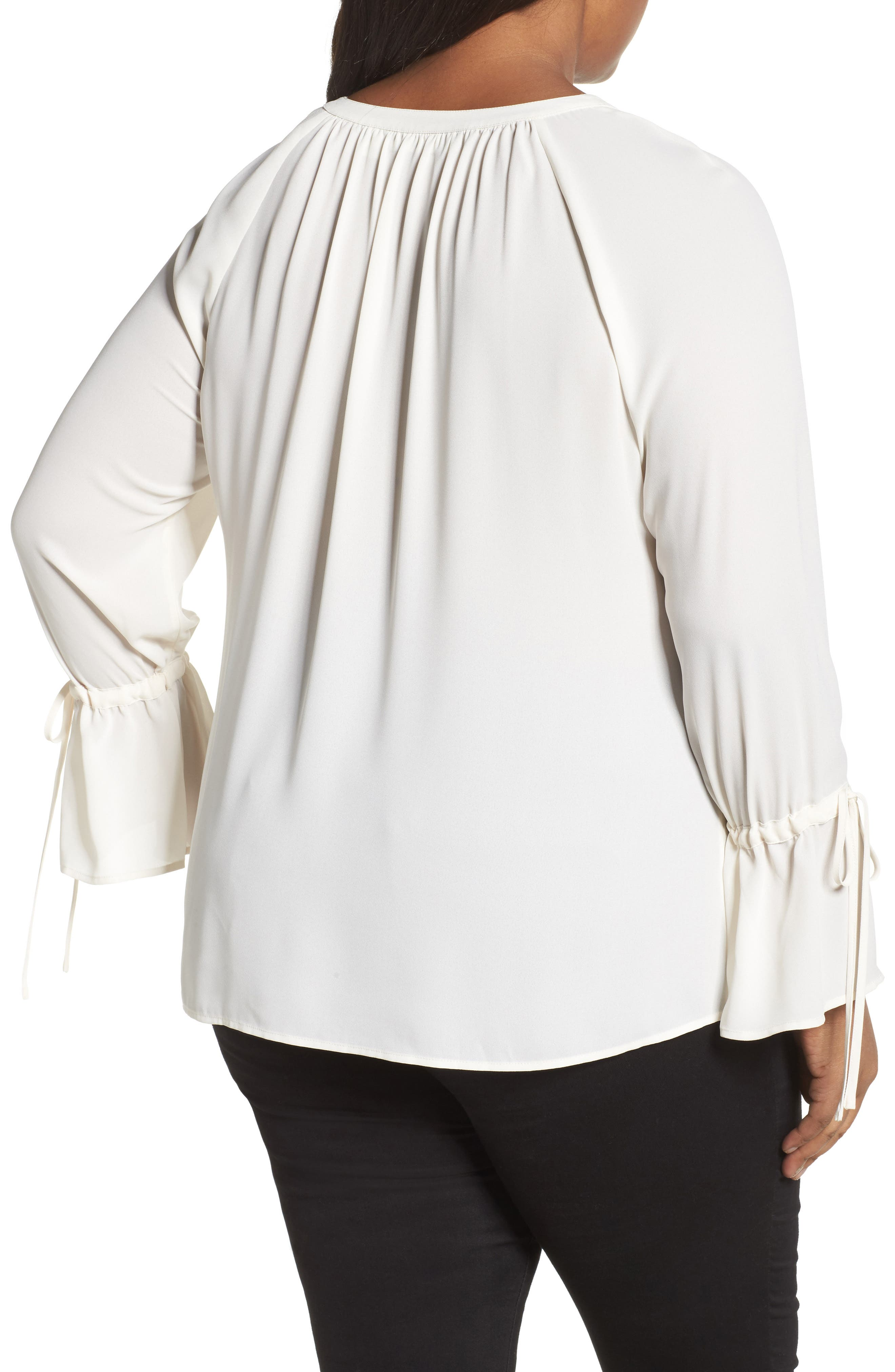 Tie Sleeve Blouse,                             Alternate thumbnail 7, color,