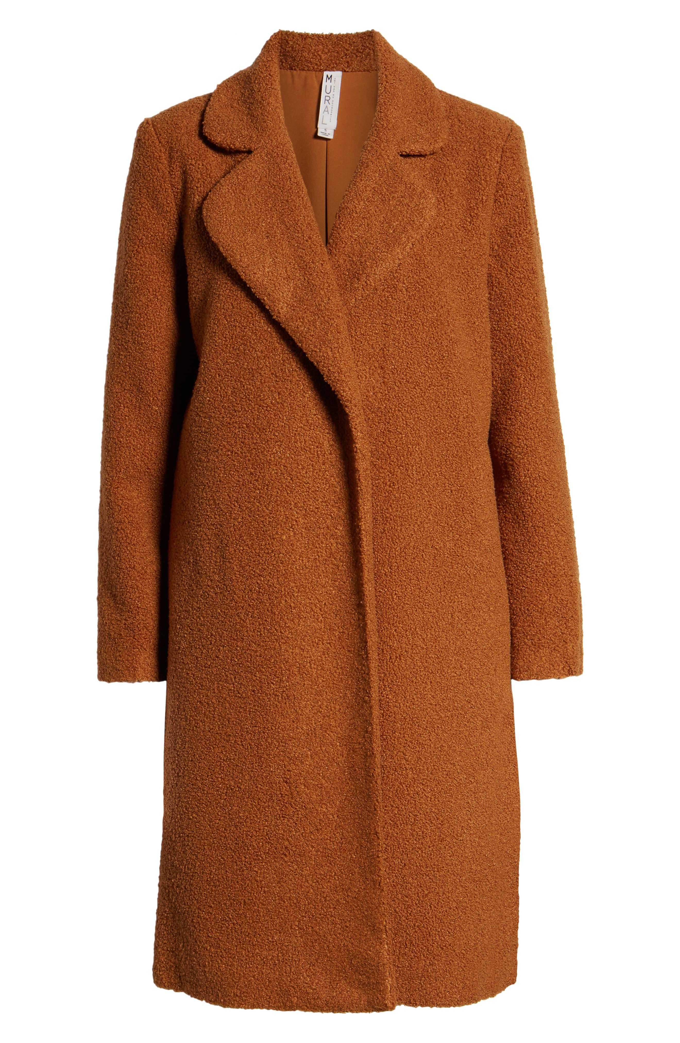 Teddy Bear Coat,                             Alternate thumbnail 6, color,                             MOCHA