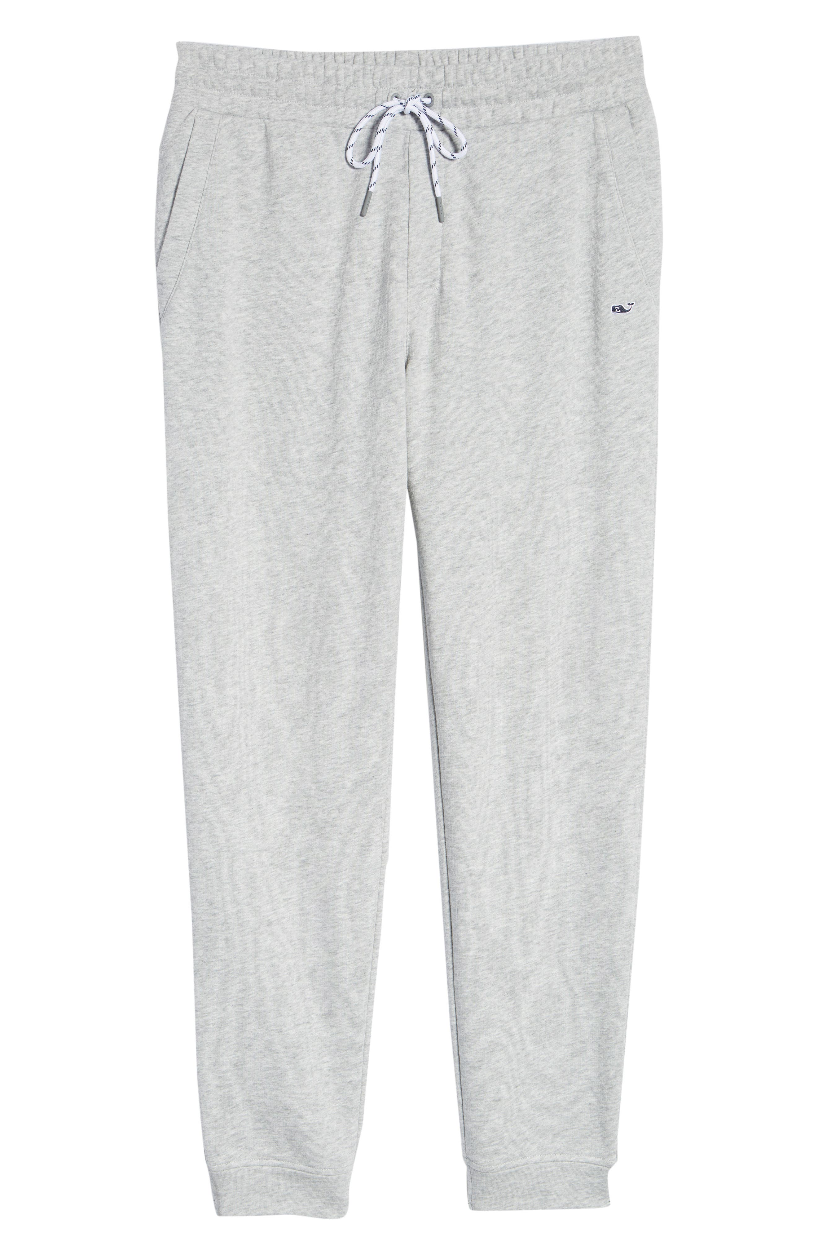 Heritage French Terry Knit Jogger Pants,                             Alternate thumbnail 6, color,                             GRAY HEATHER