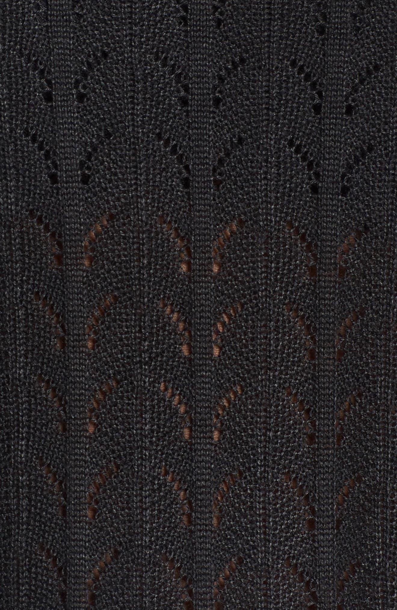 Molly Ruffle Sweater,                             Alternate thumbnail 5, color,                             001