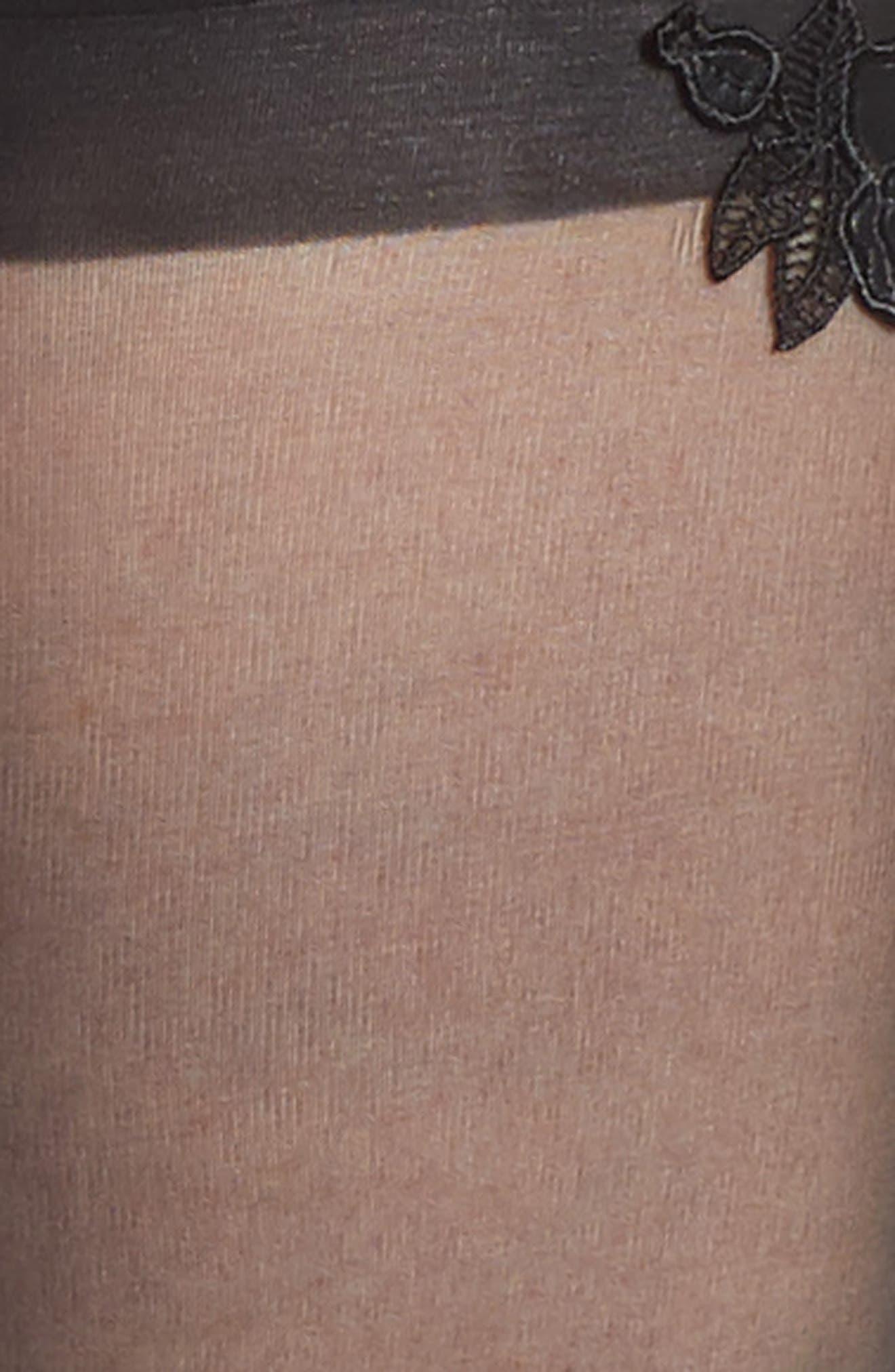 Valentina Stay-Up Stockings,                             Alternate thumbnail 3, color,                             BLACK