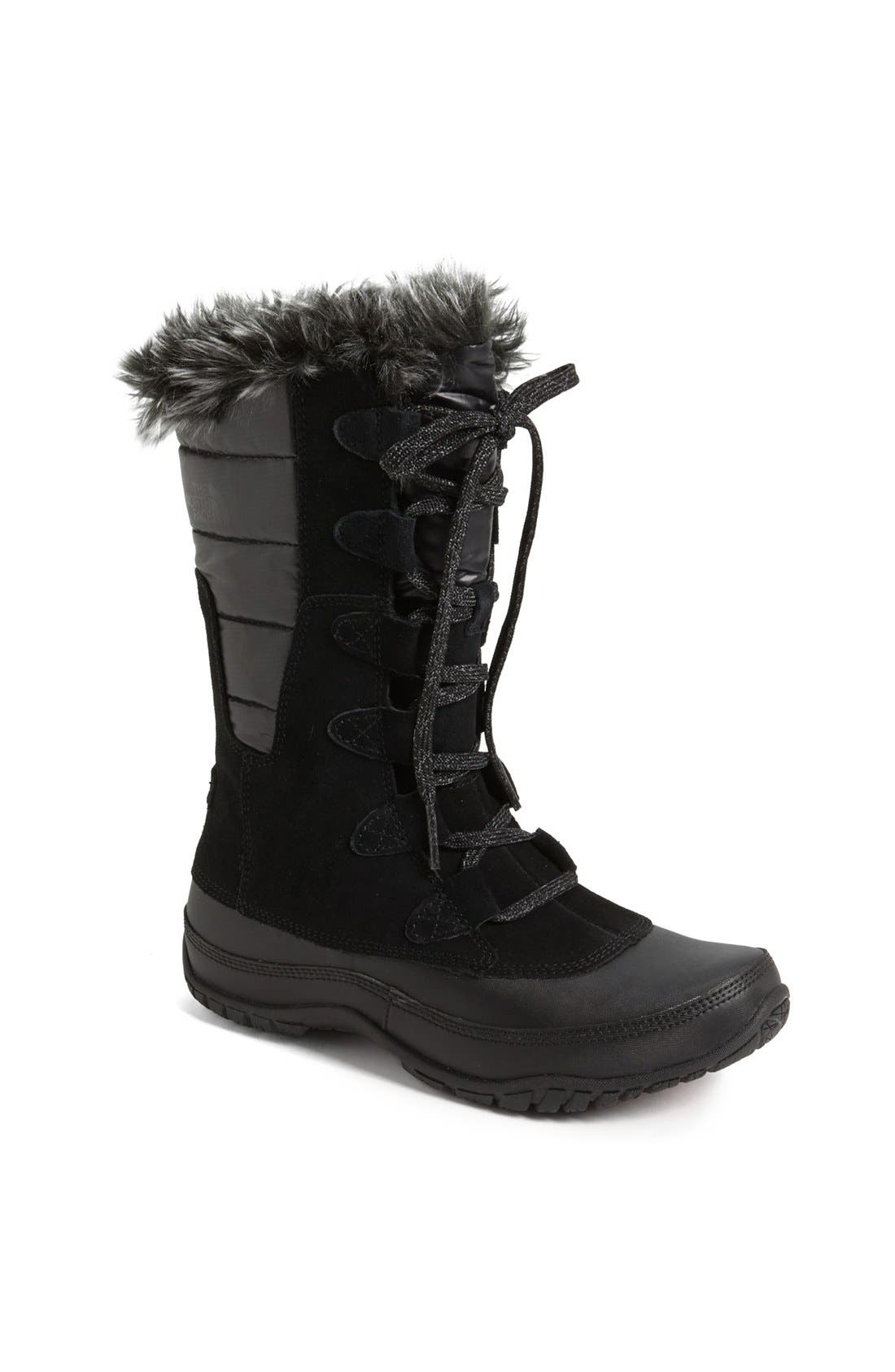 'Nuptse Purna' Waterproof PrimaLoft<sup>®</sup> Eco Insulated Winter Boot,                             Main thumbnail 1, color,                             001