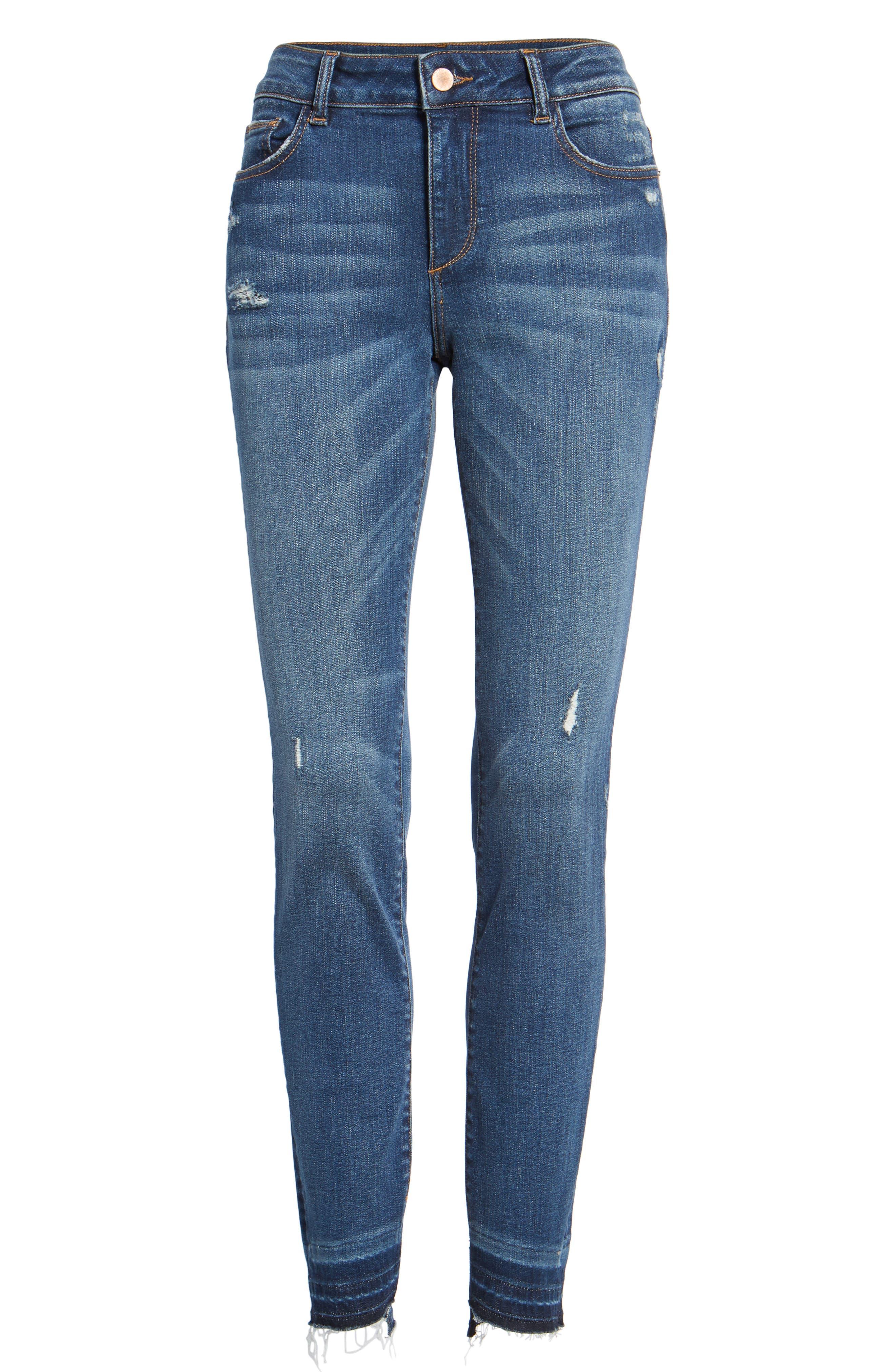 Florence Released Step Hem Skinny Jeans,                             Alternate thumbnail 7, color,                             430