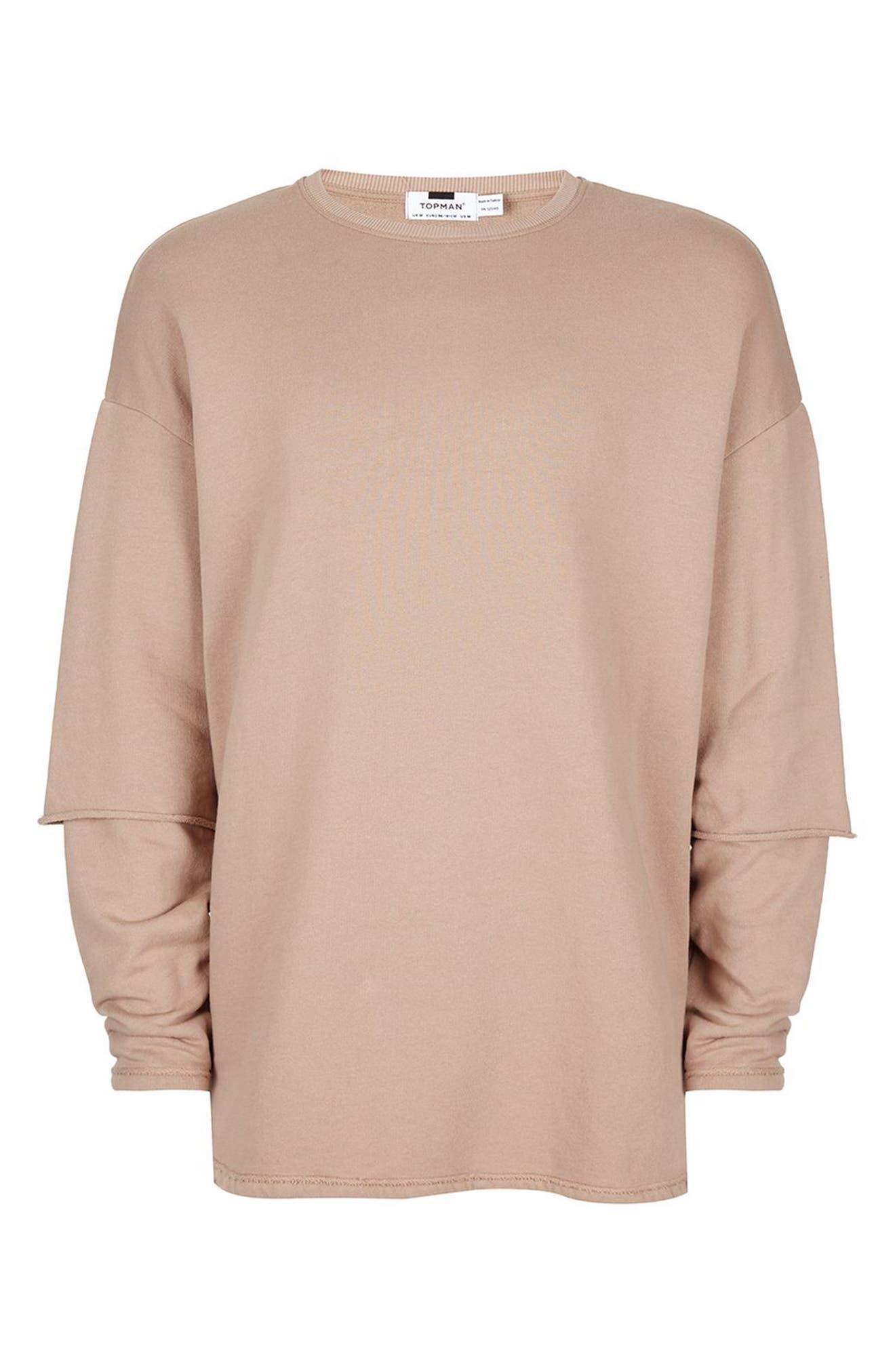 Layer Sleeve Sweatshirt,                             Alternate thumbnail 4, color,                             230