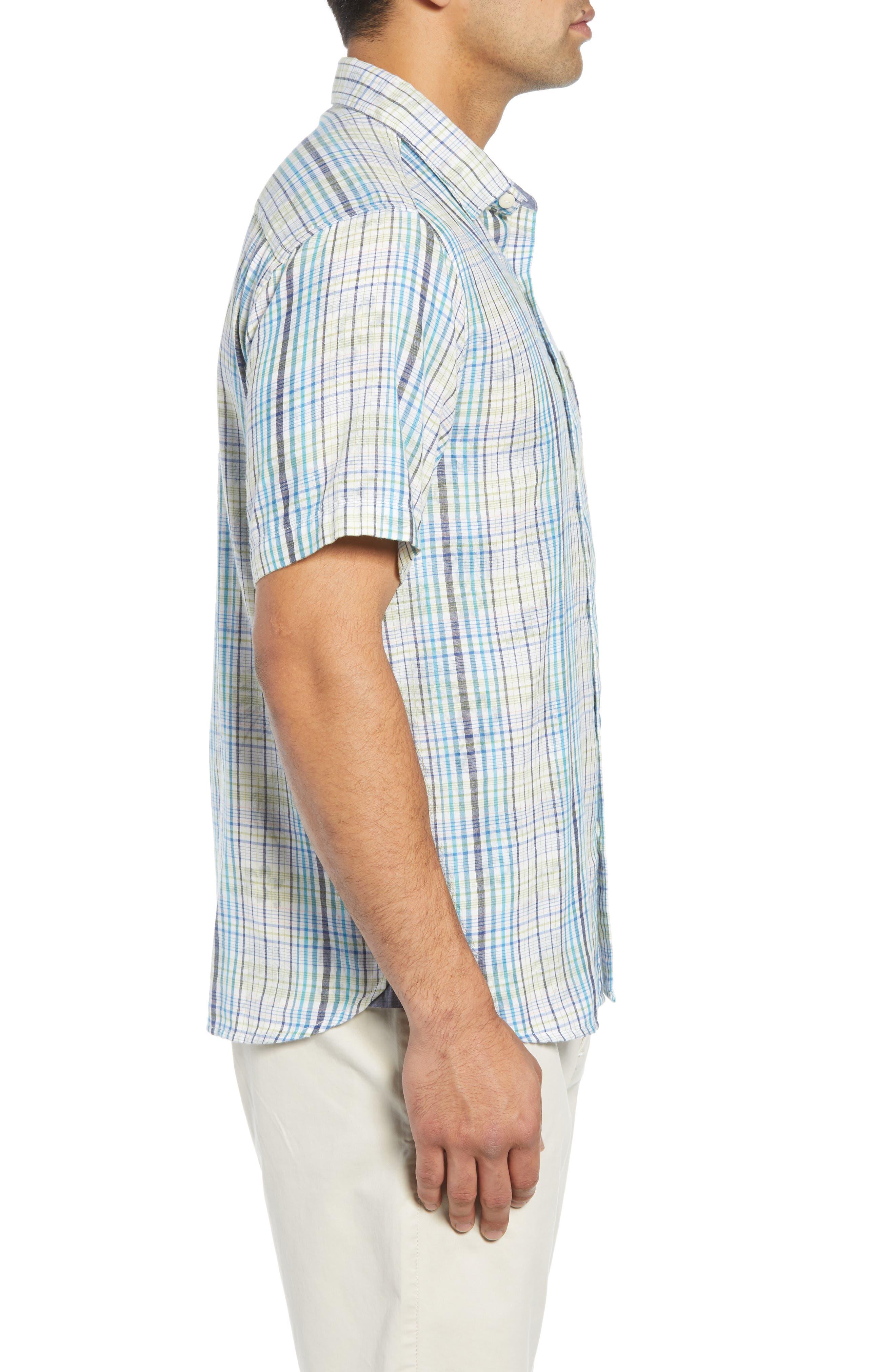 Hideaway Palms Camp Shirt,                             Alternate thumbnail 3, color,                             400