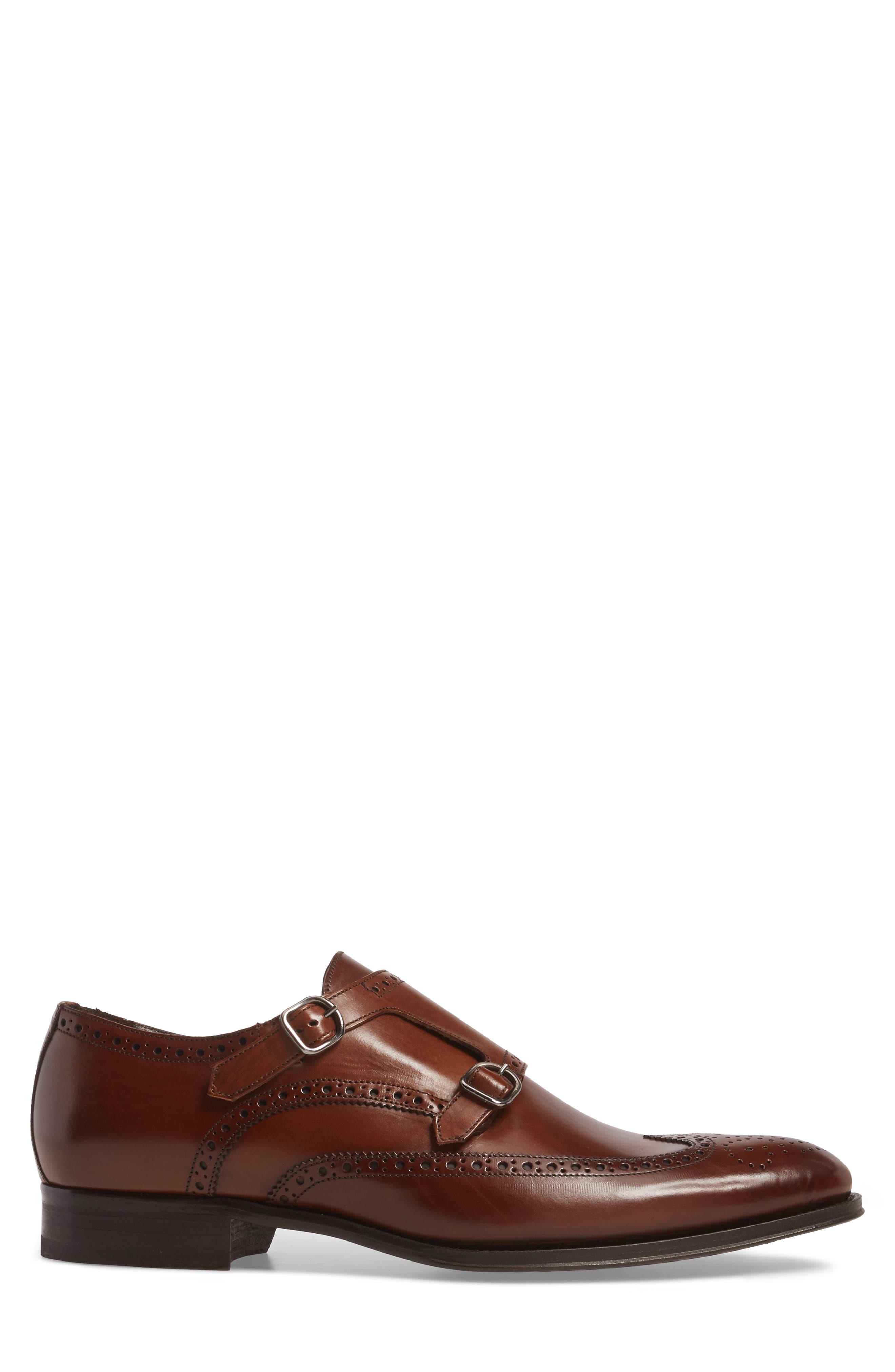 Pike Double Monk Strap Shoe,                             Alternate thumbnail 3, color,