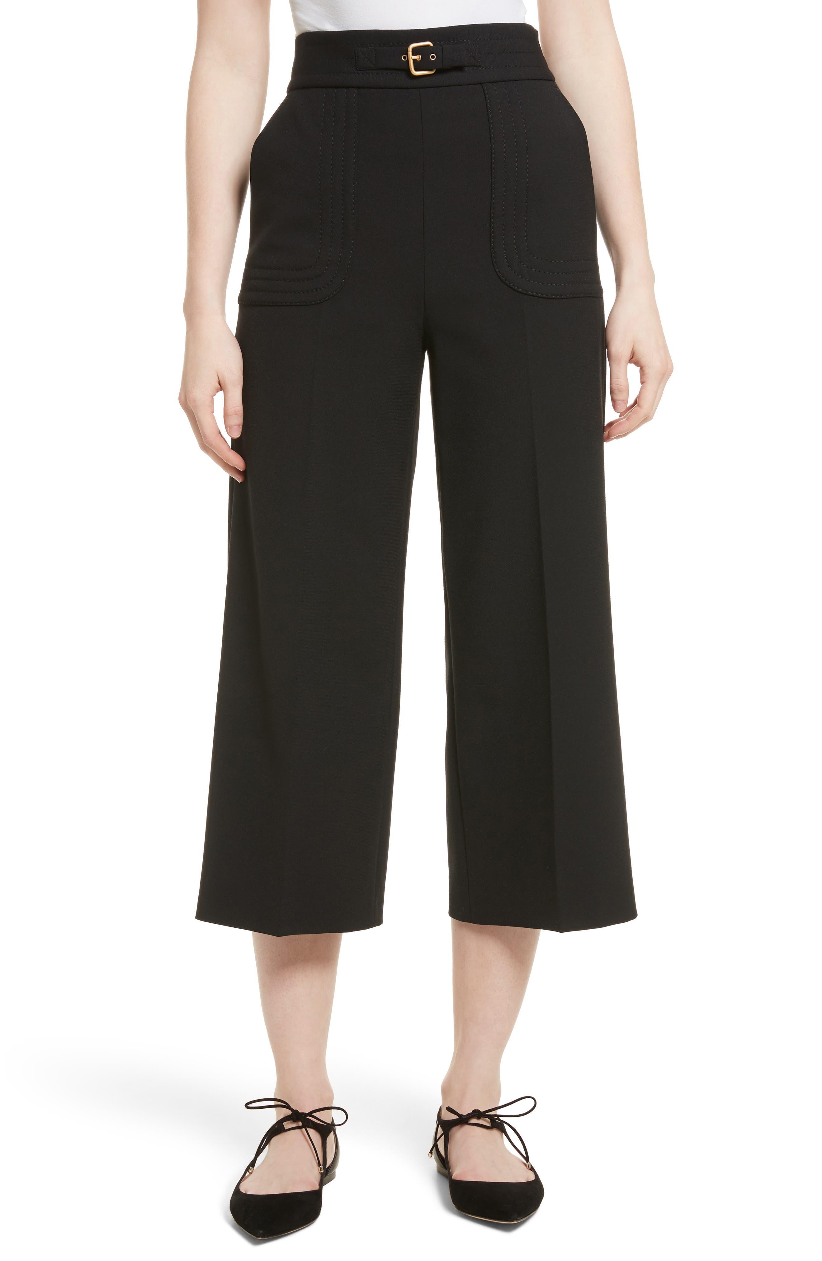 Belt Detail Culottes,                         Main,                         color,