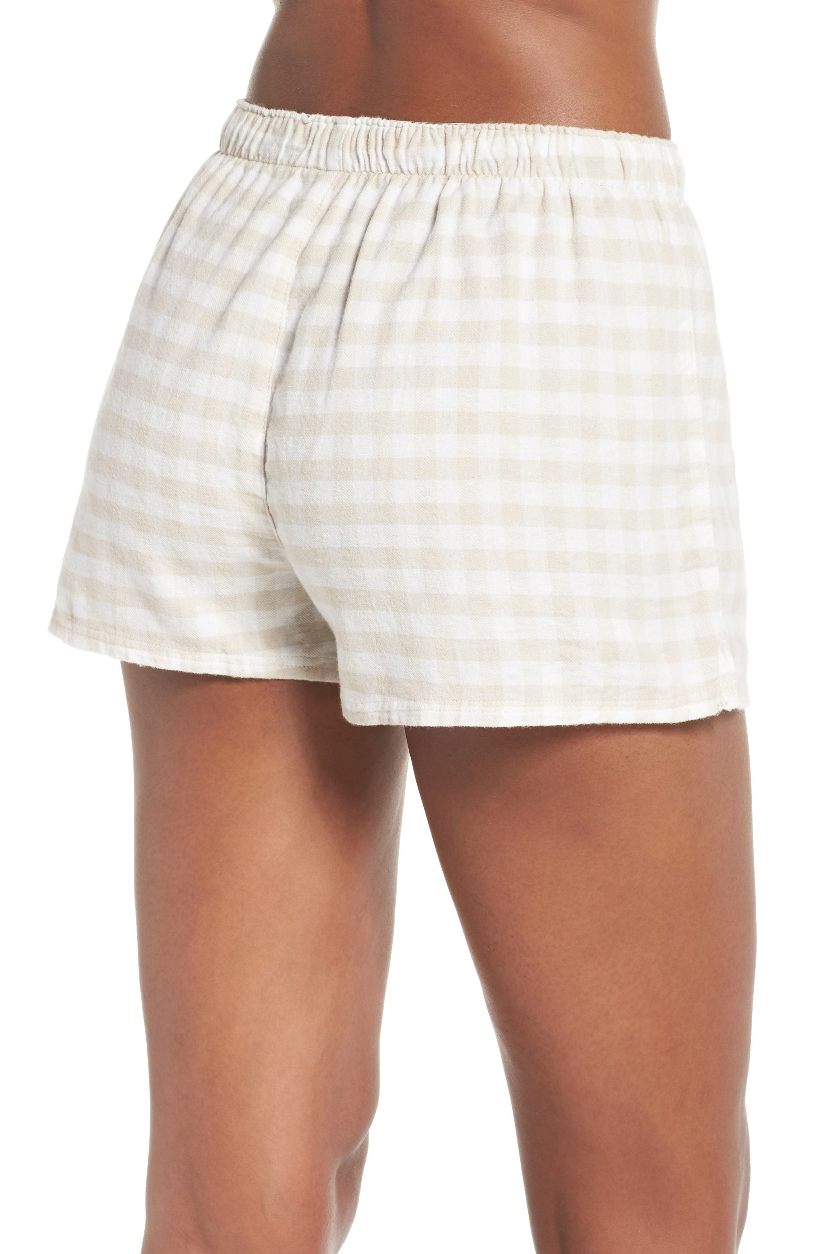 Gingham Pajama Shorts,                             Alternate thumbnail 2, color,                             250