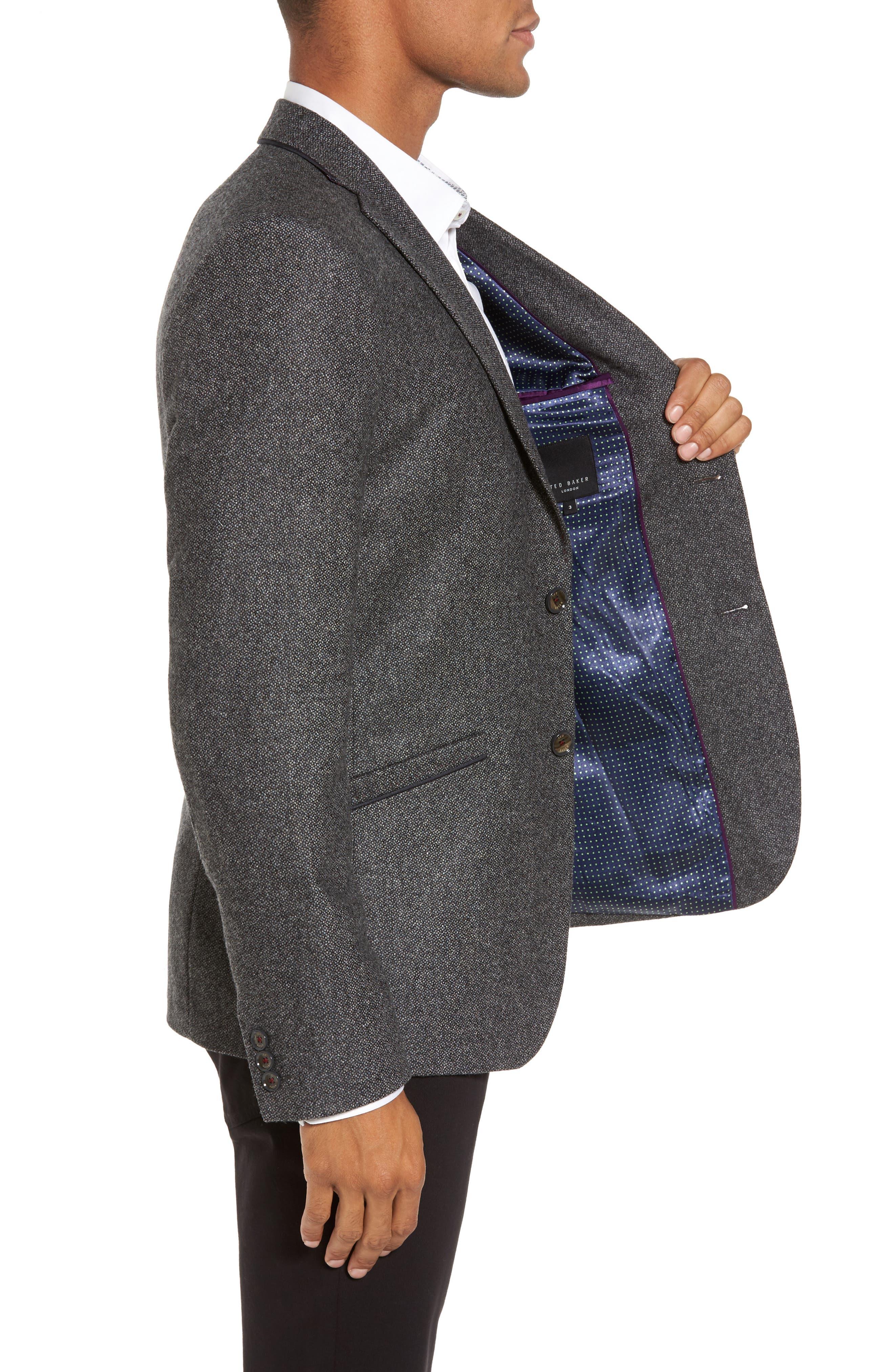 Modern Slim Fit Textured Blazer,                             Alternate thumbnail 3, color,                             010