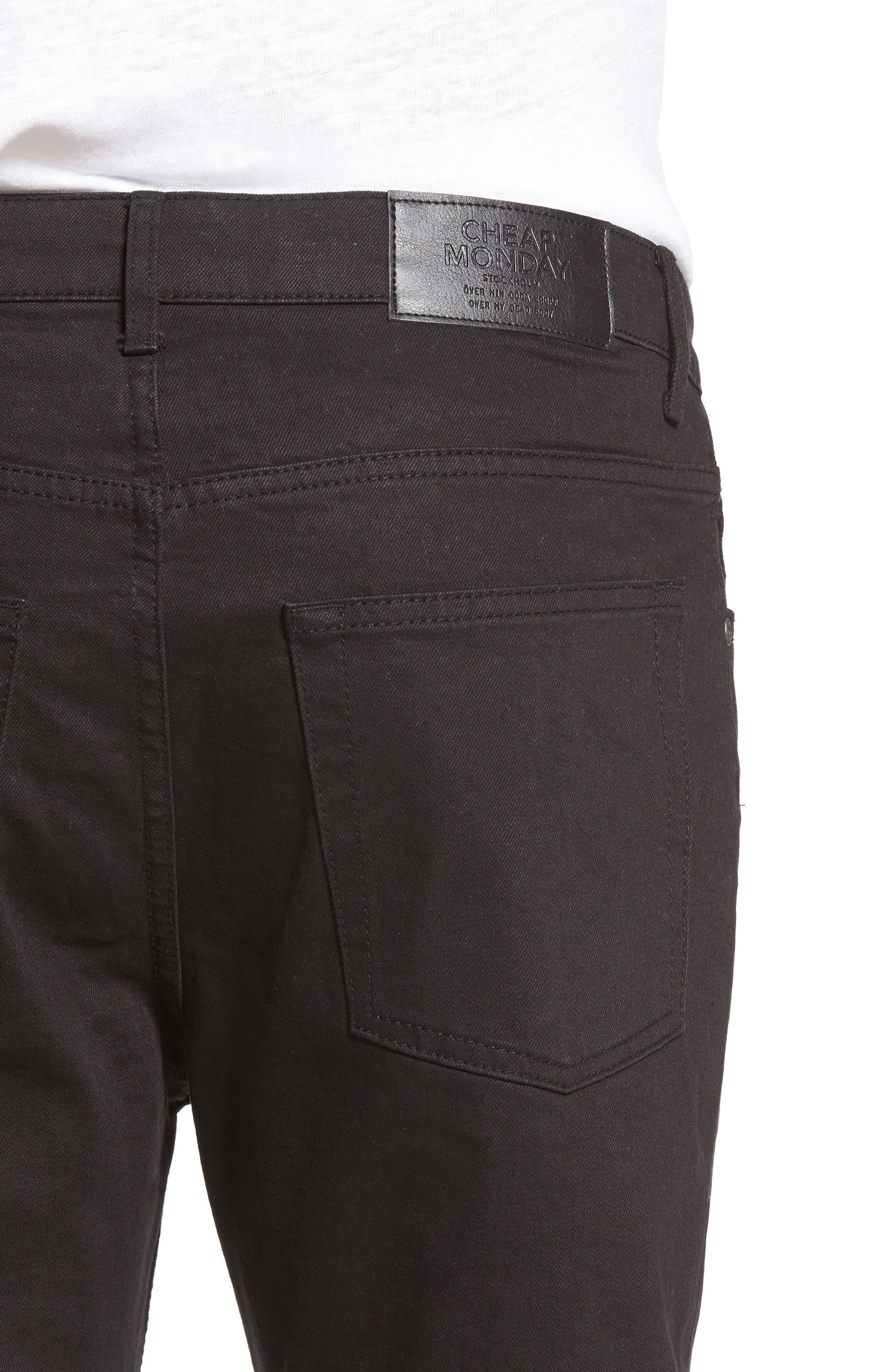 CHEAP MONDAY,                             Sonic Slim Fit Jeans,                             Alternate thumbnail 4, color,                             001