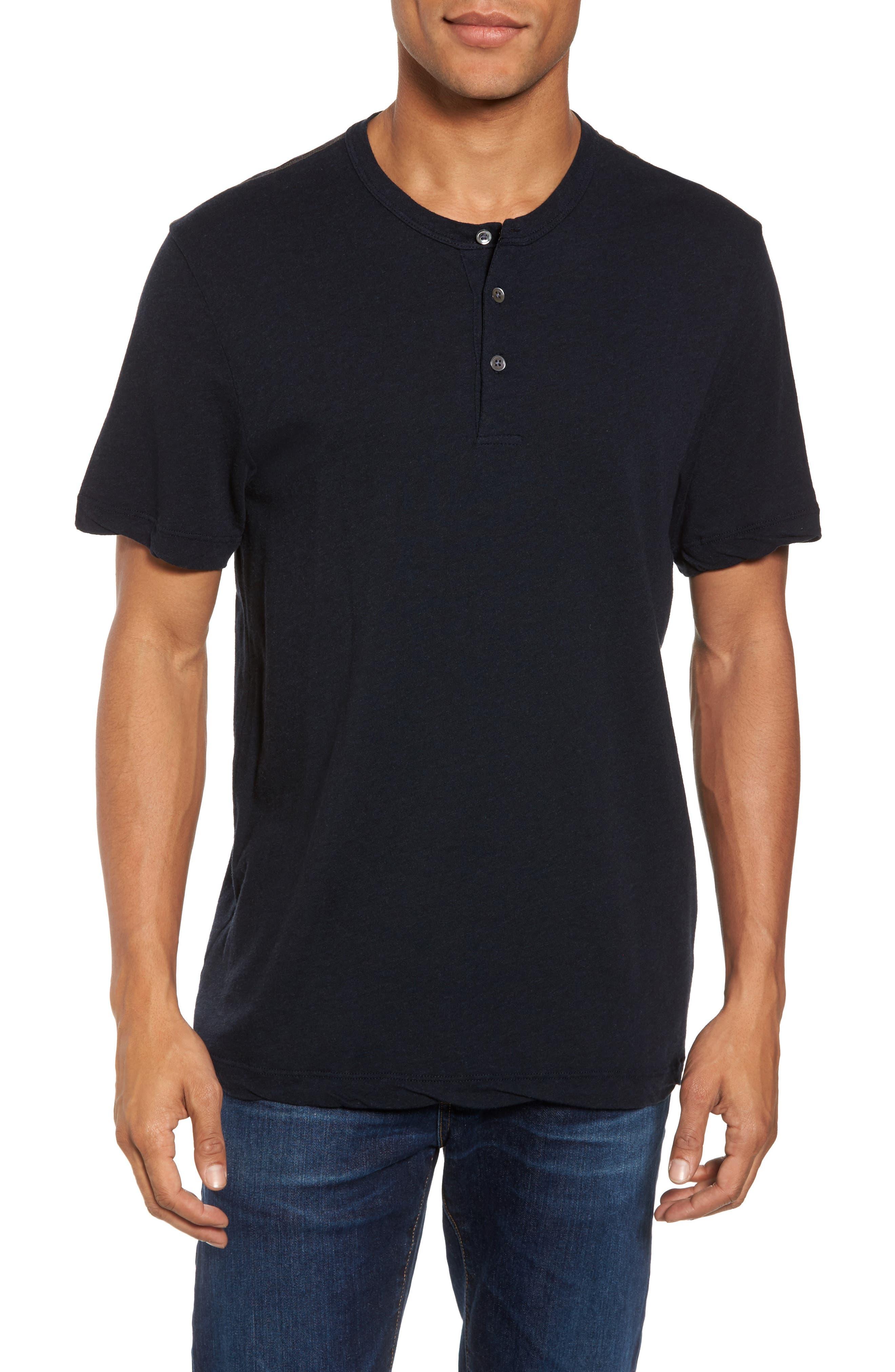 Contrast Stitch Henley T-Shirt,                             Main thumbnail 2, color,