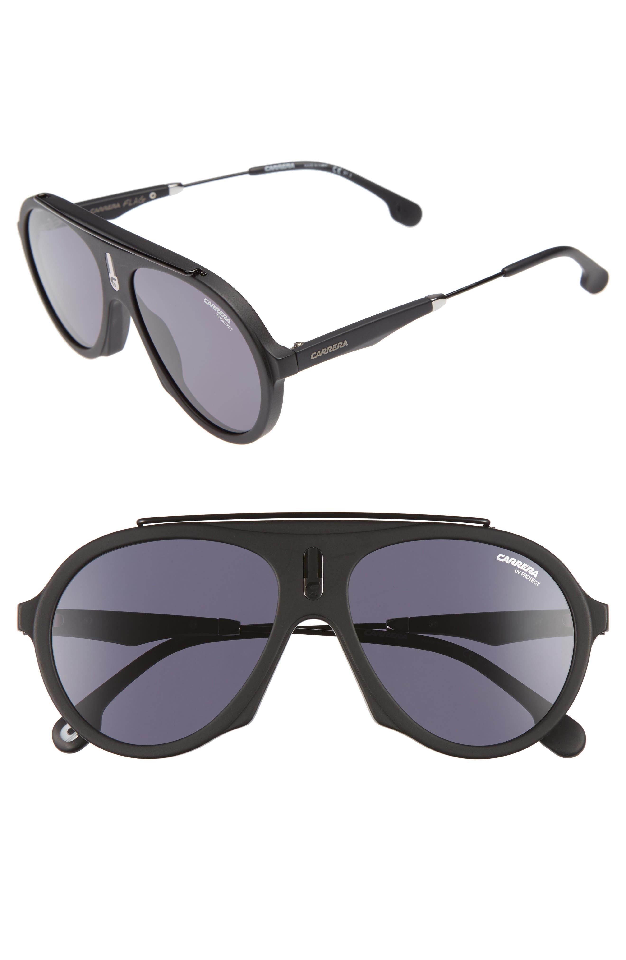 Flags 57mm Sunglasses,                             Main thumbnail 1, color,                             001