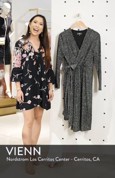 Metallic Faux Wrap Knit Dress, sales video thumbnail