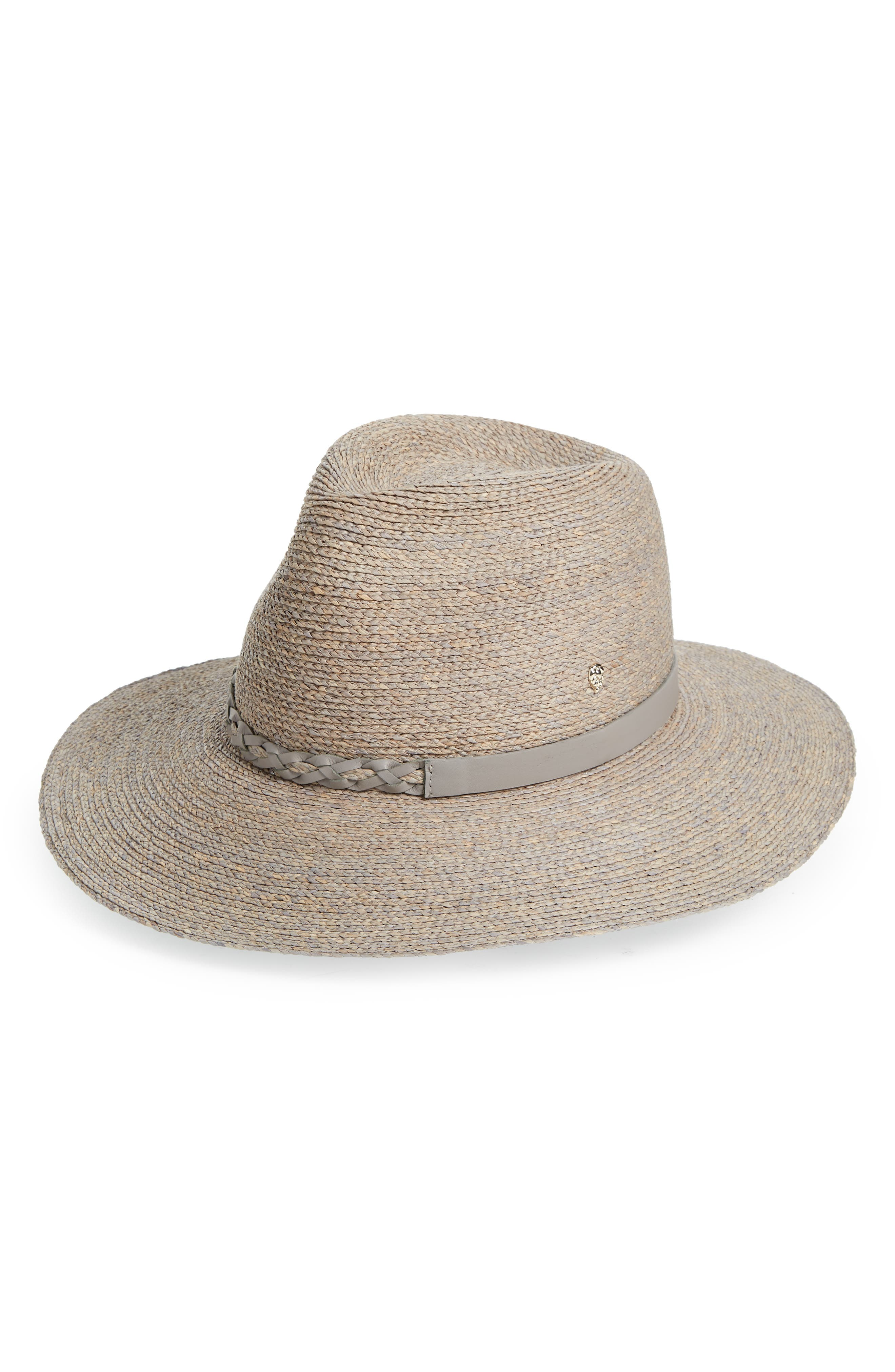 Packable Braid Raffia Fedora,                         Main,                         color, 025