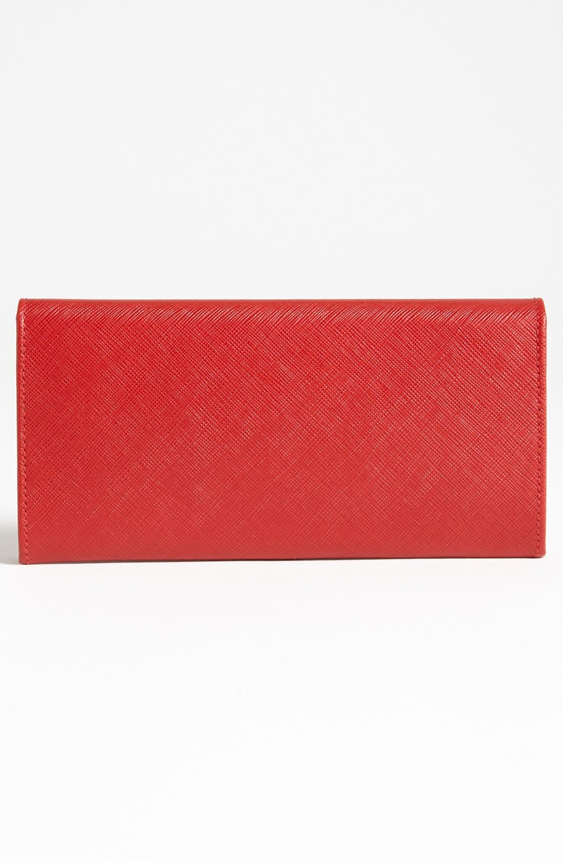Saffiano Leather Wallet,                             Alternate thumbnail 3, color,                             600