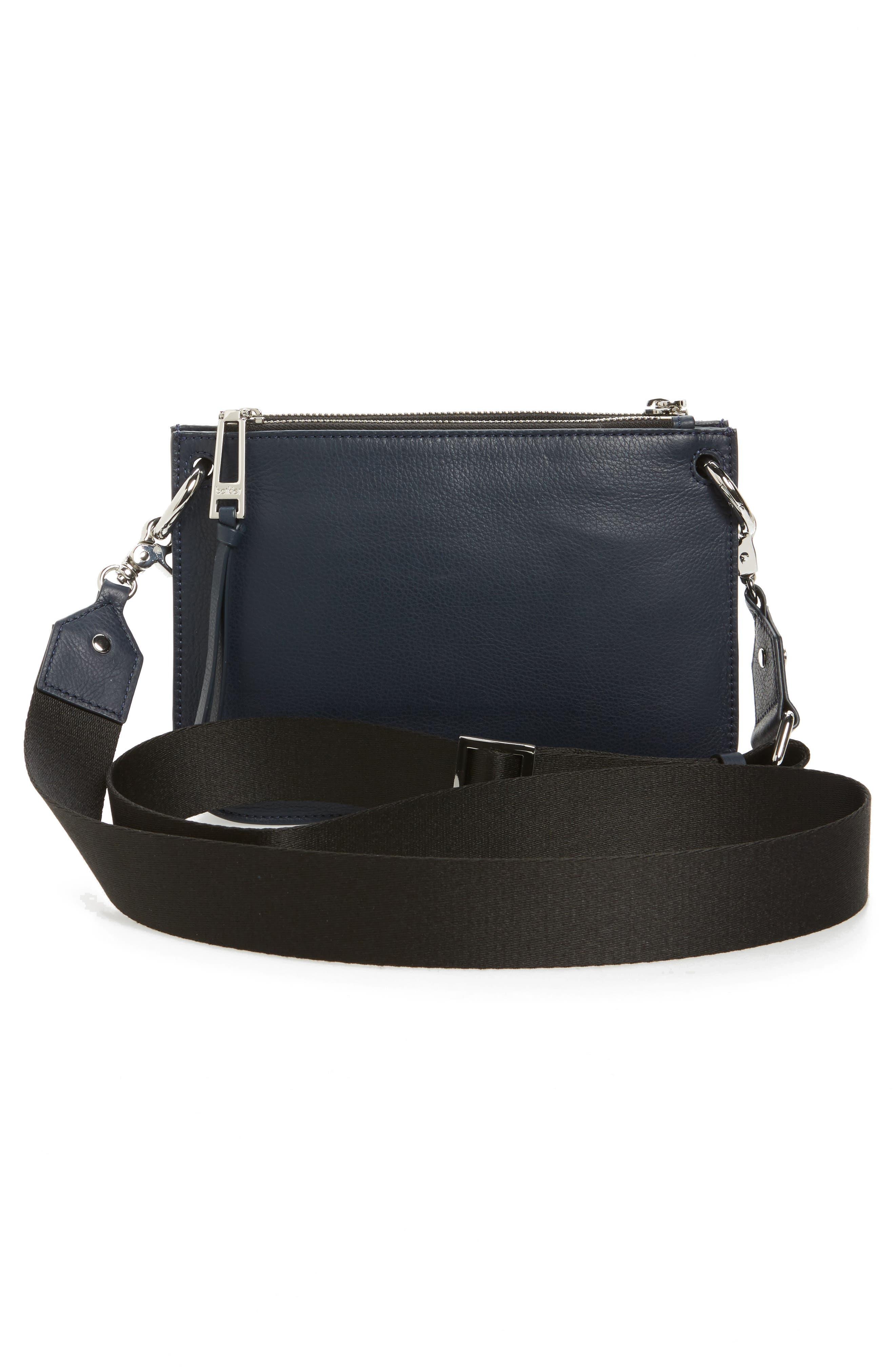 Bleeker Leather Double Shoulder Bag,                             Alternate thumbnail 16, color,