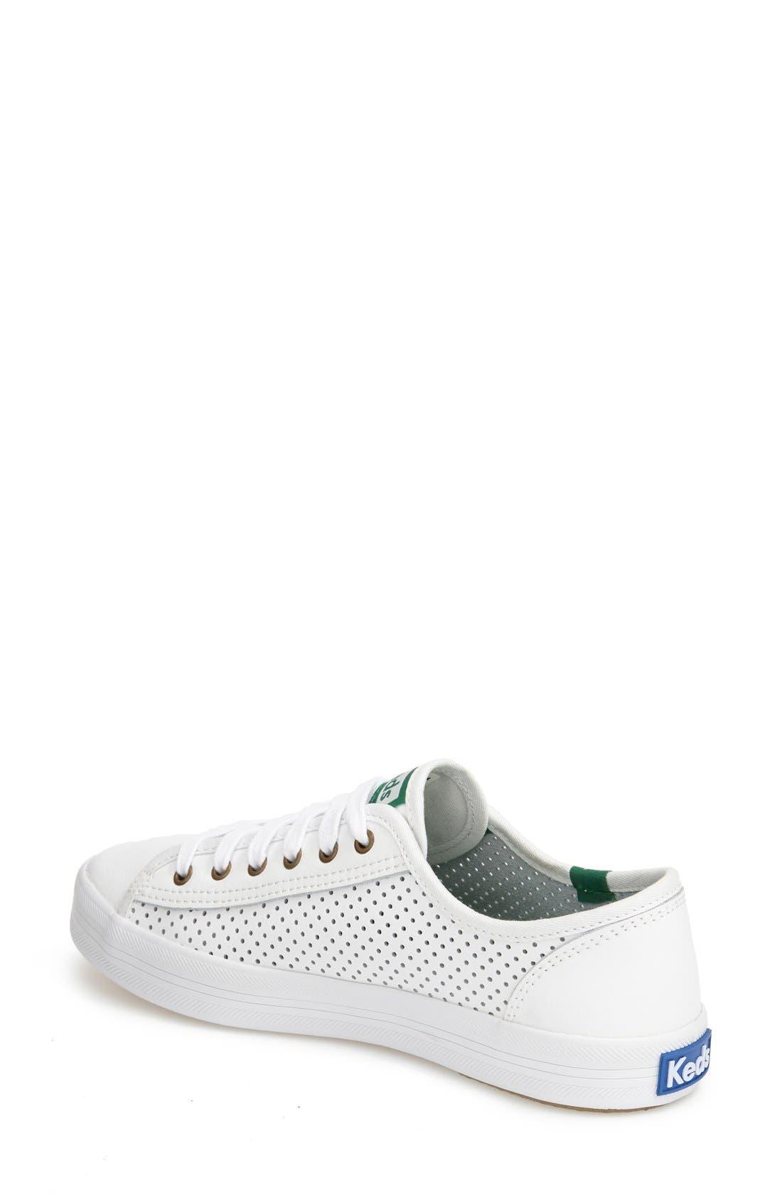 KEDS<SUP>®</SUP>,                             'Kickstart' Perforated Sneaker,                             Alternate thumbnail 2, color,                             100