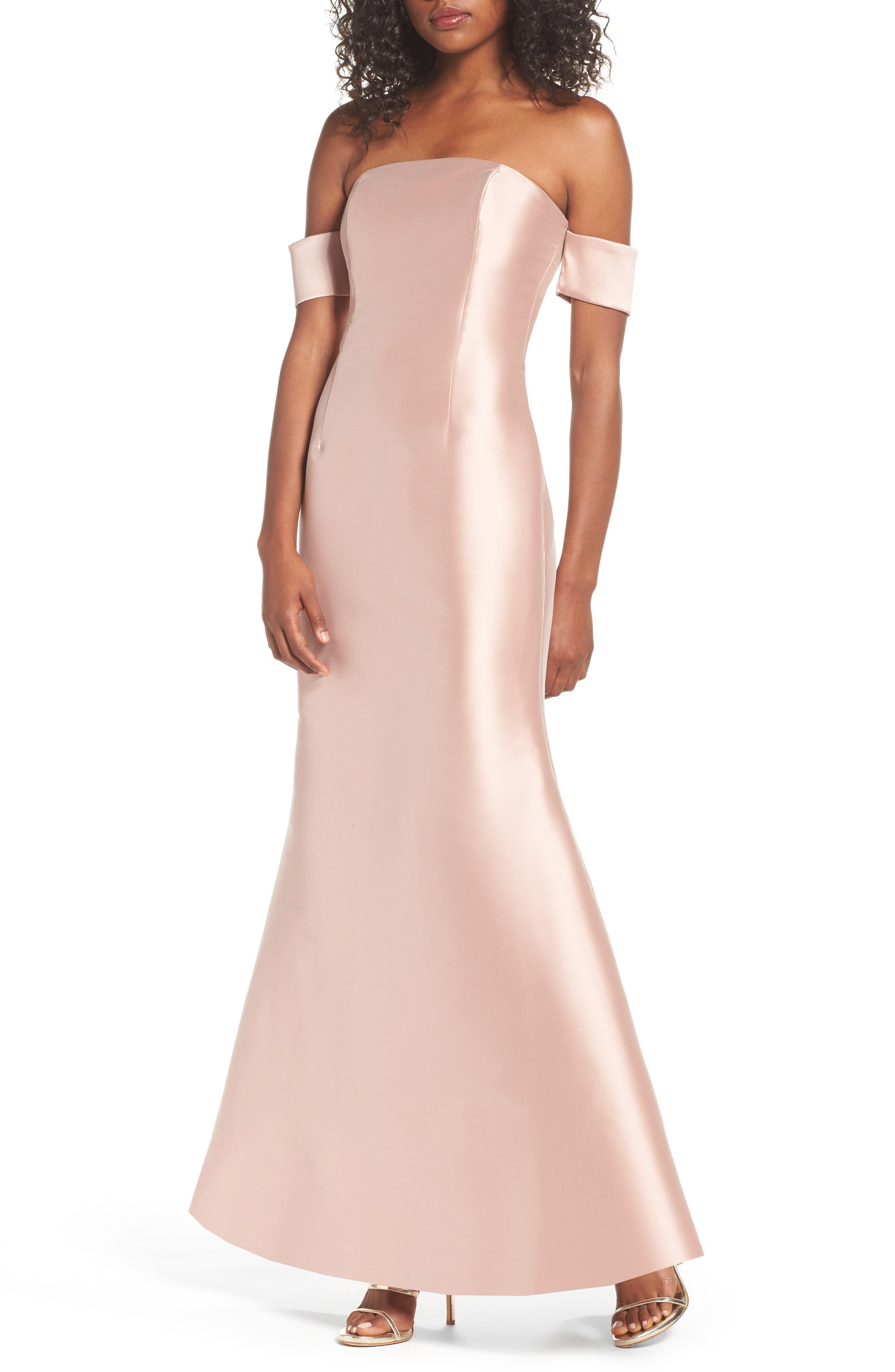 Noir Victoria Mermaid Gown,                         Main,                         color, 650