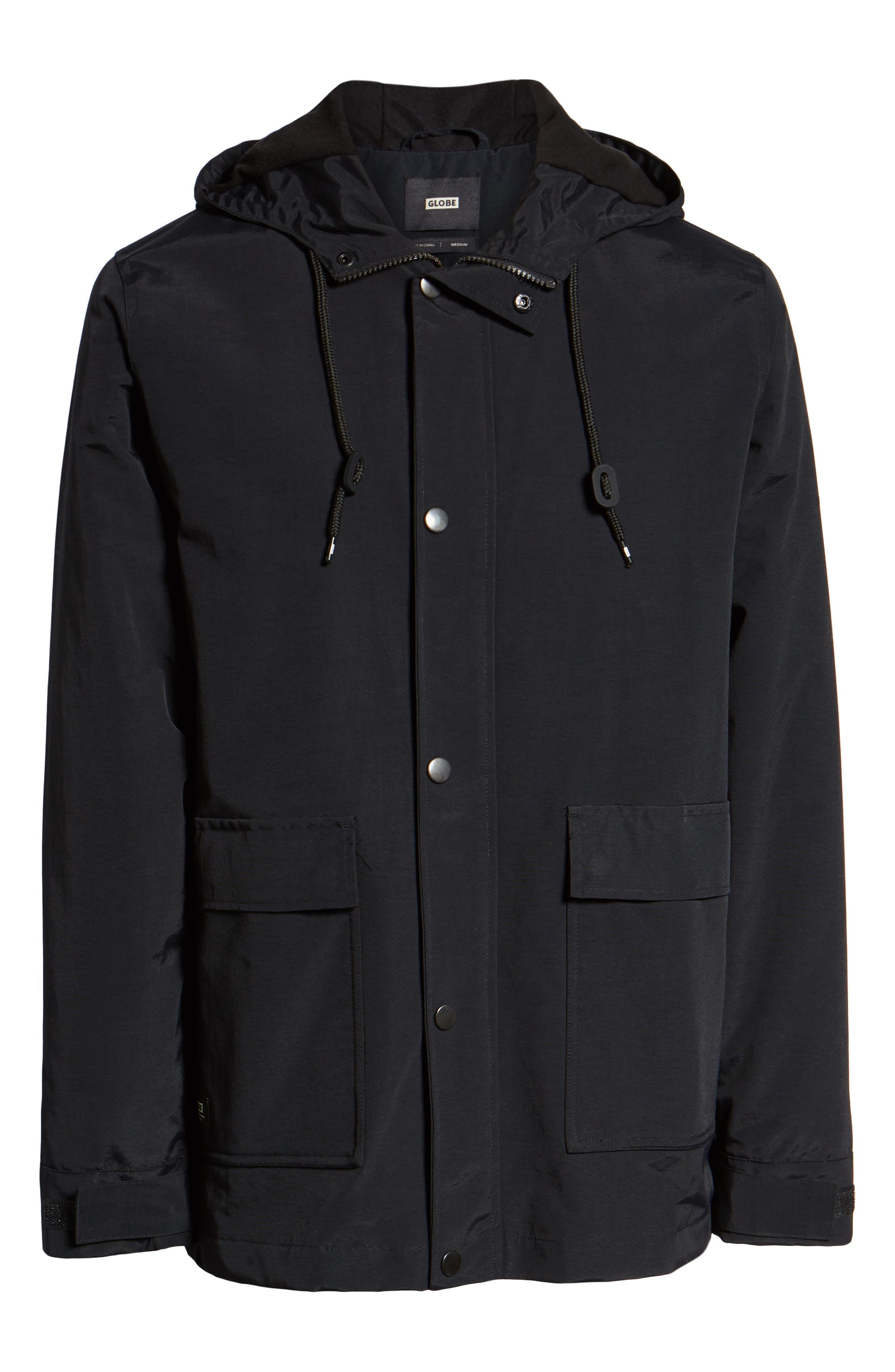Goodstock Utility Jacket,                             Alternate thumbnail 6, color,                             BLACK