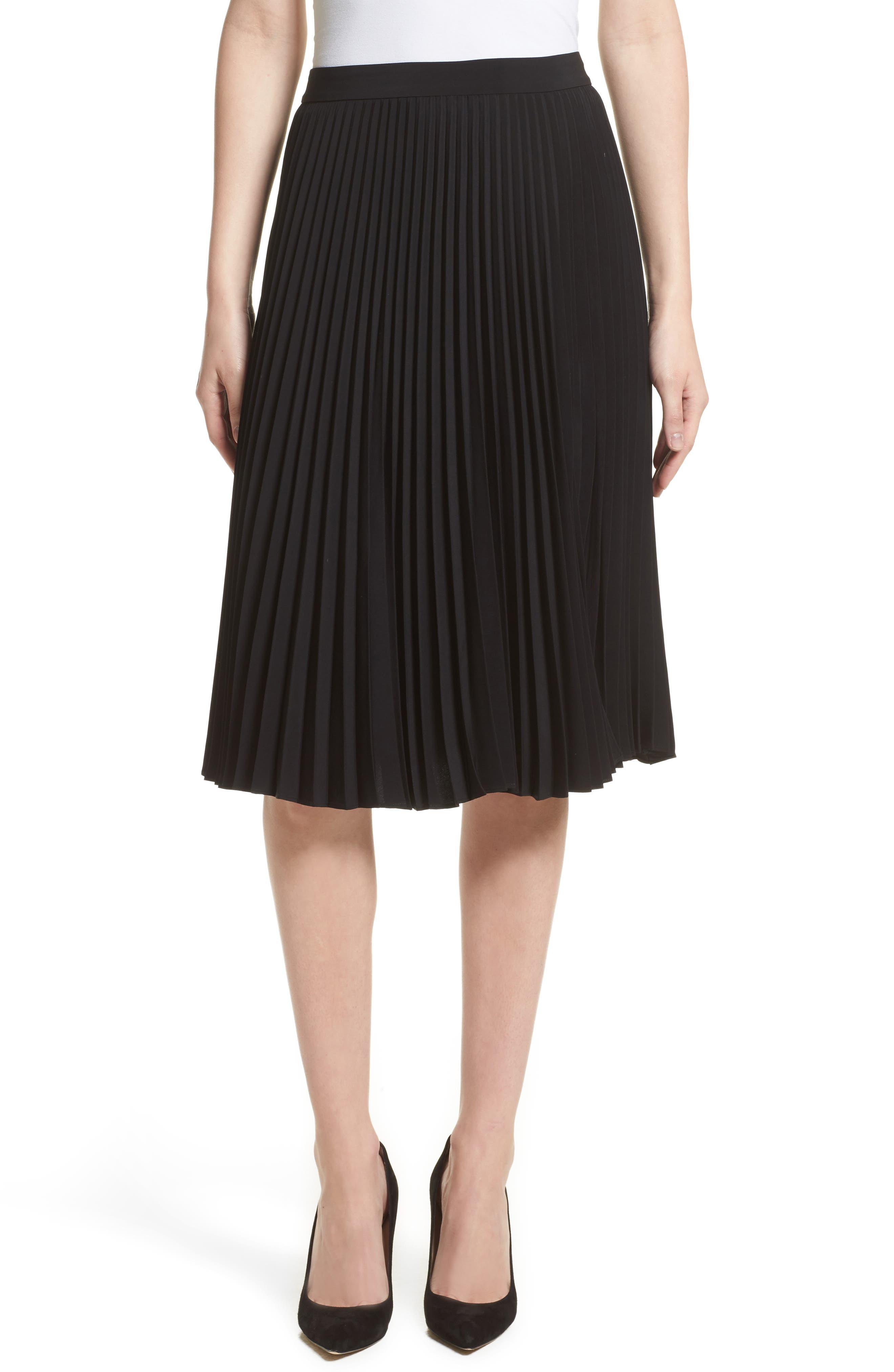 Gates Pleated Skirt,                         Main,                         color, 001