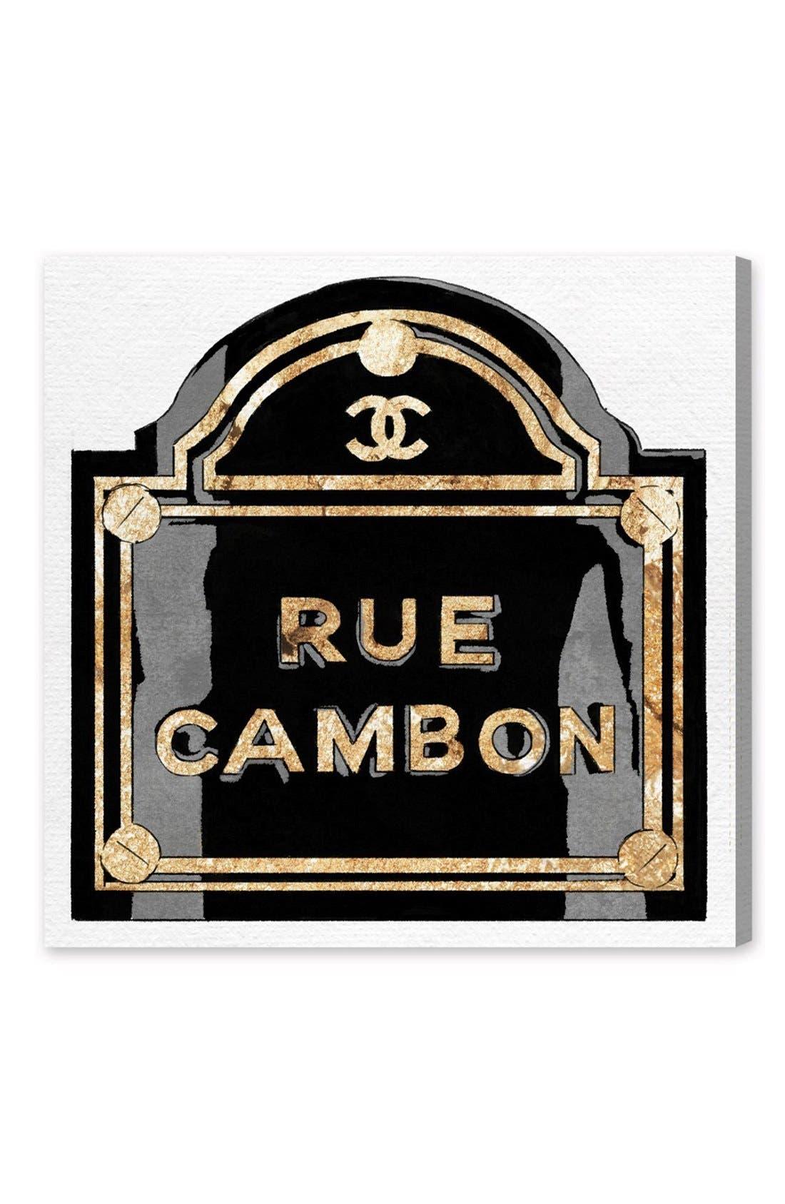 'Rue Cambon' Canvas Wall Art,                             Main thumbnail 1, color,