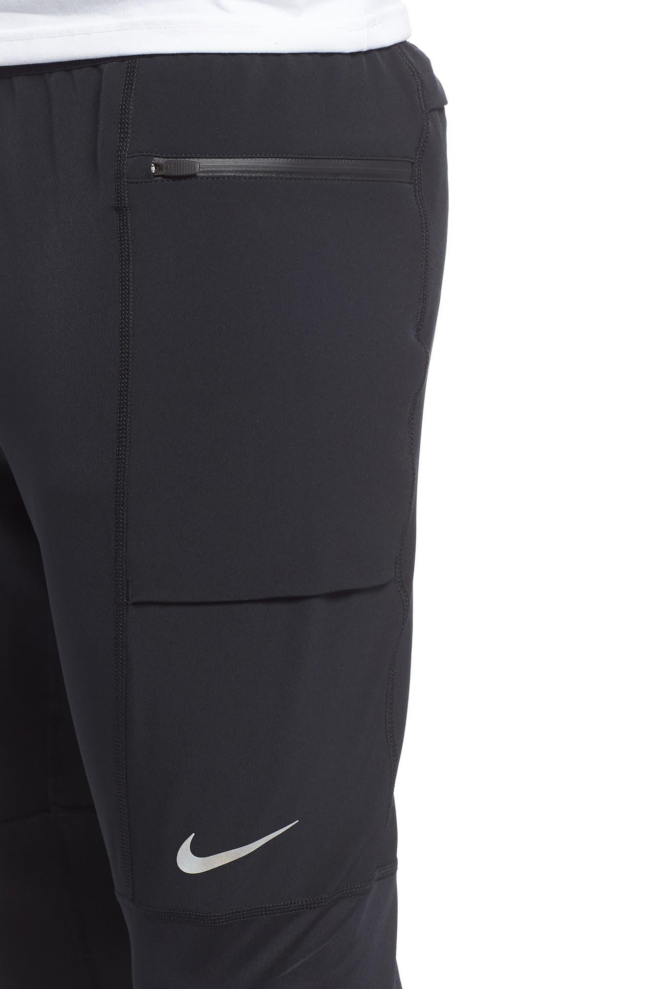 Utility Running Pants,                             Alternate thumbnail 4, color,                             BLACK