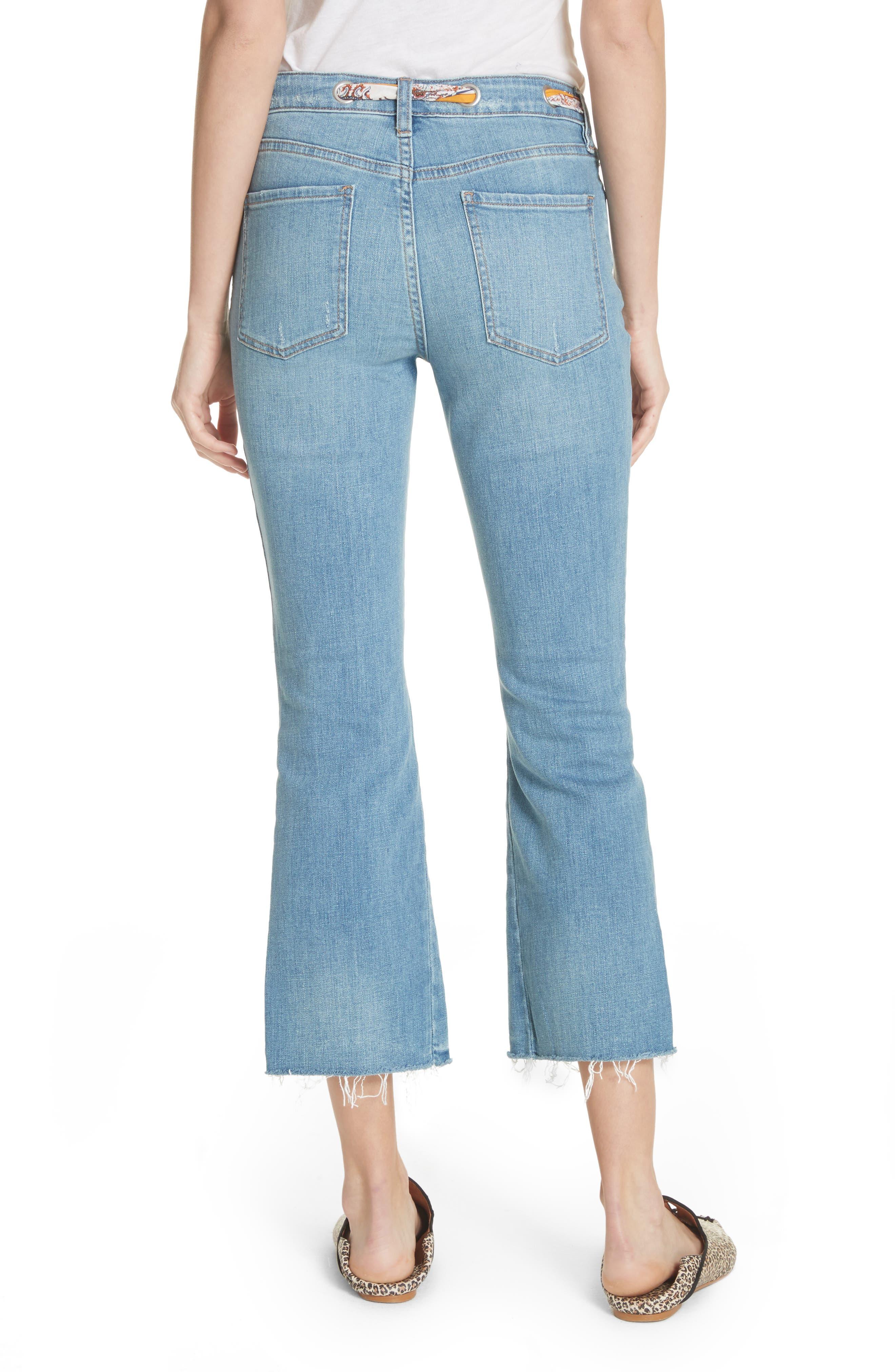 Belt Out High Waist Crop Bootcut Jeans,                             Alternate thumbnail 2, color,