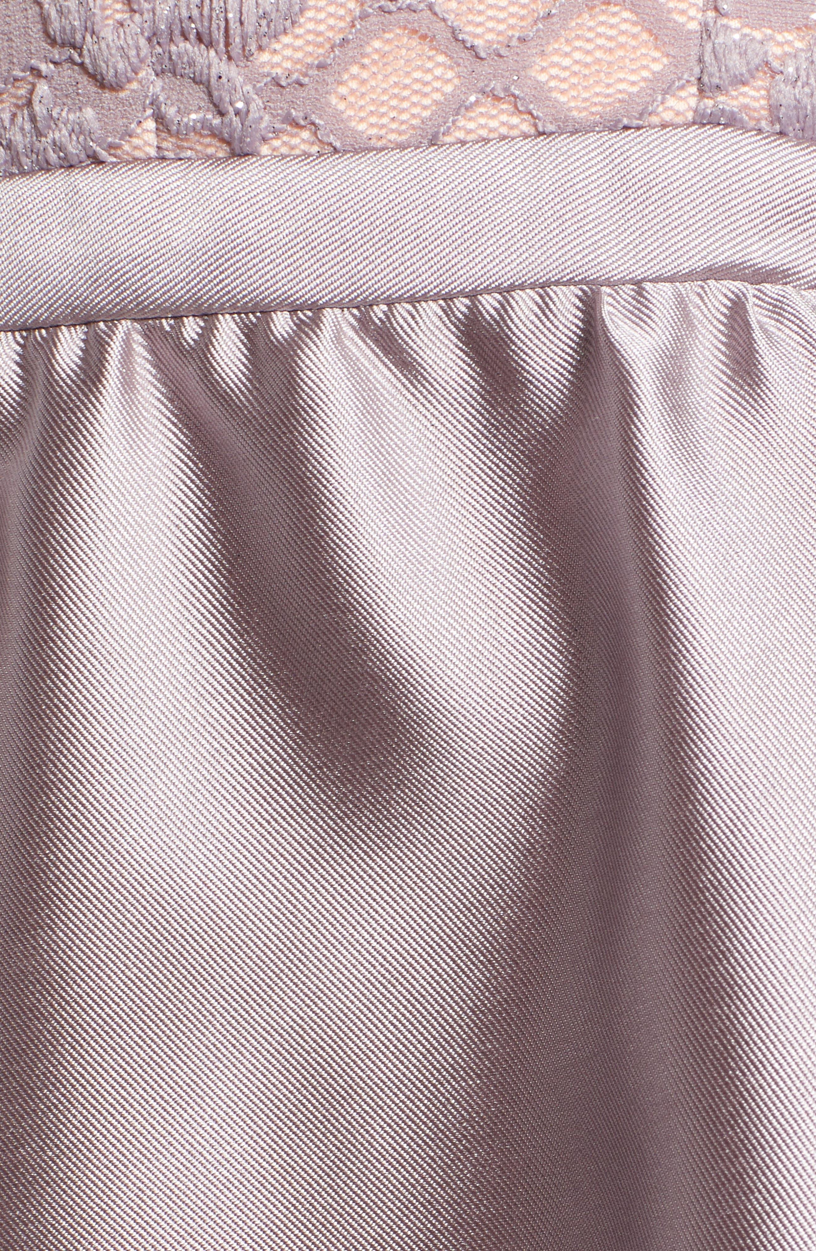 Lace & Taffeta Party Dress,                             Alternate thumbnail 6, color,                             MAUVE