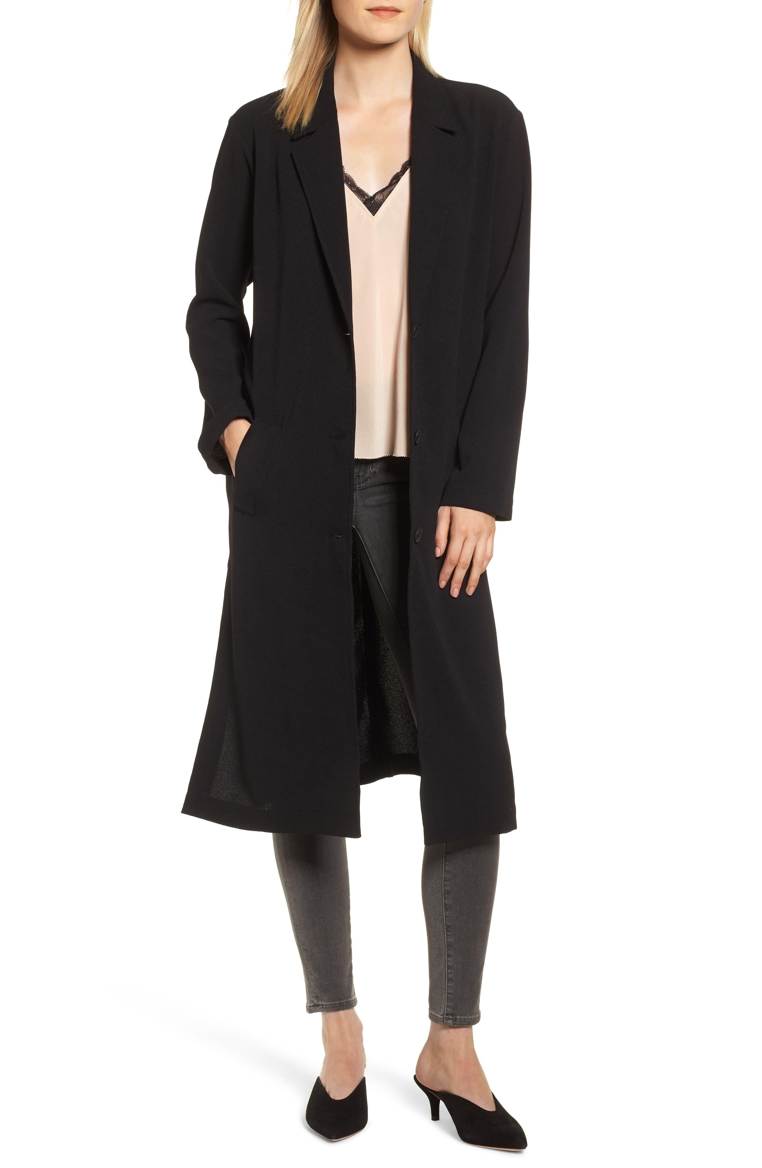 1920s Coats, Flapper Coats, 20s Jackets Womens Chelsea28 Duster Jacket $59.40 AT vintagedancer.com