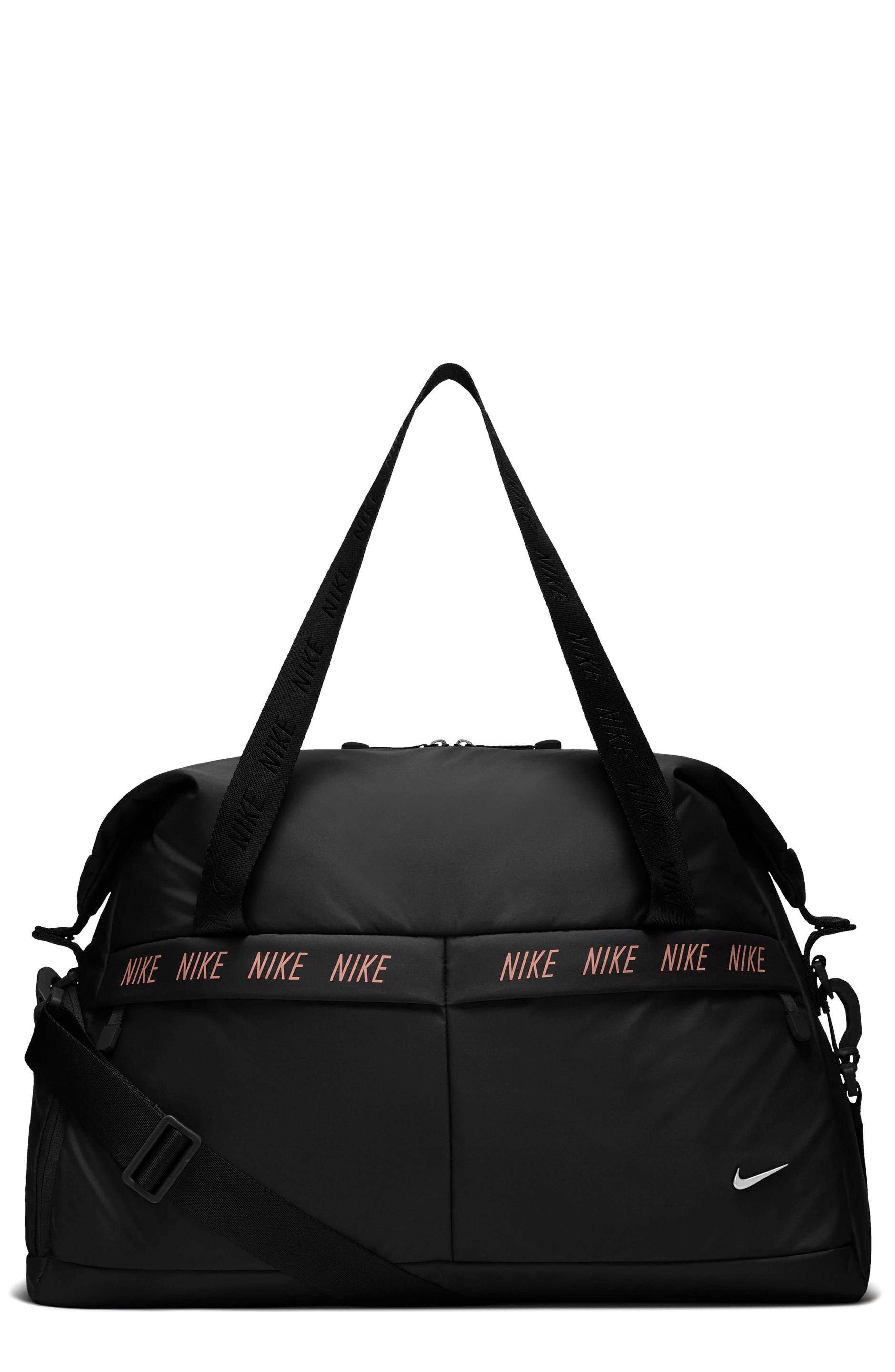 Legend Club Training Duffel Bag,                             Main thumbnail 1, color,                             BLACK/ STORM PINK/ BLACK