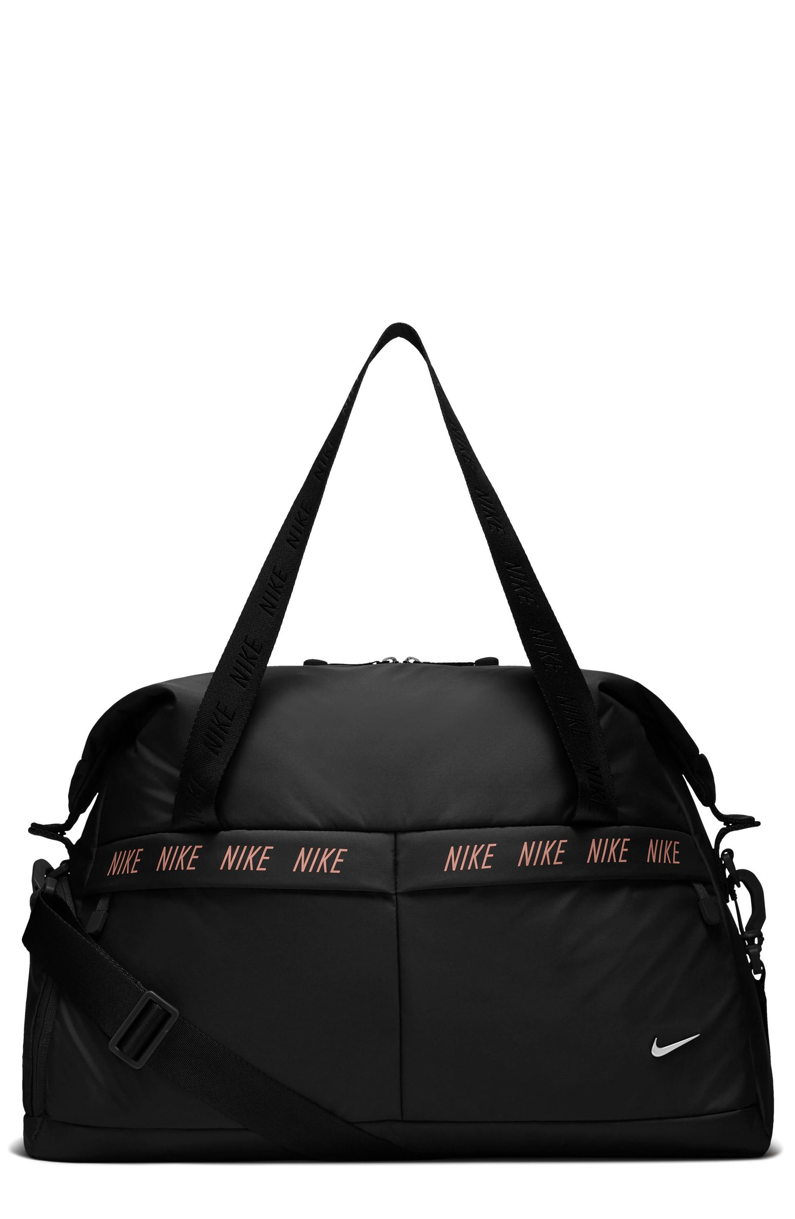 Legend Club Training Duffel Bag,                         Main,                         color, BLACK/ STORM PINK/ BLACK