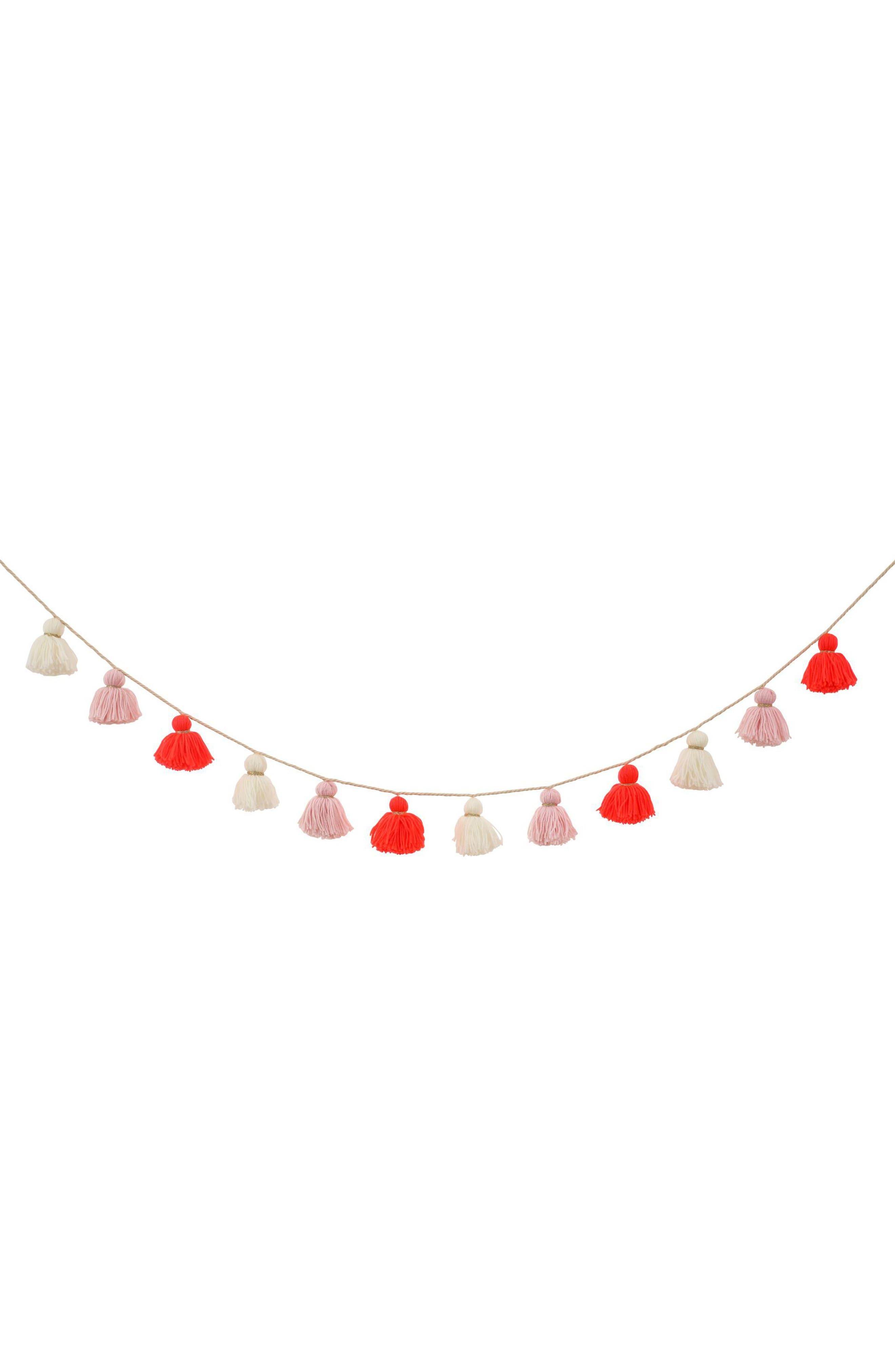 Wool Tassel Party Garland,                         Main,                         color,