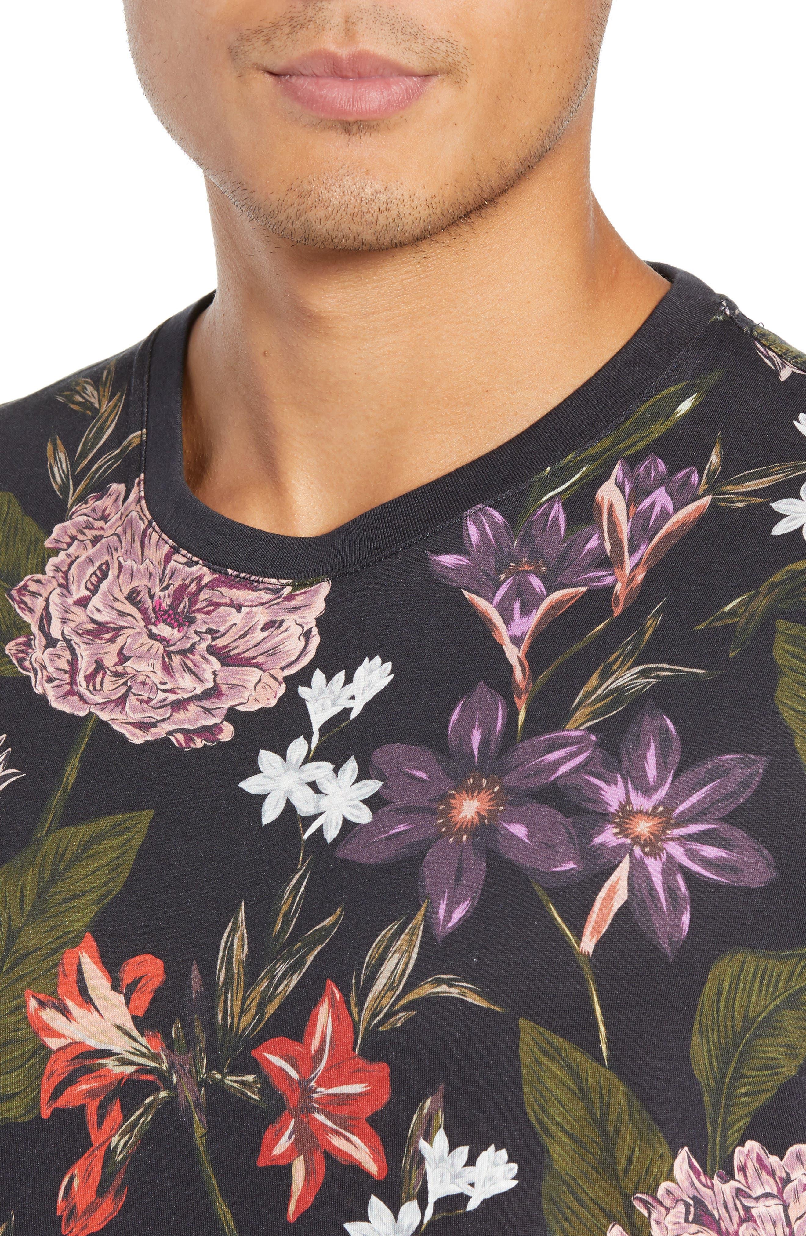 Glee Slim Fit Print T-Shirt,                             Alternate thumbnail 4, color,                             NAVY