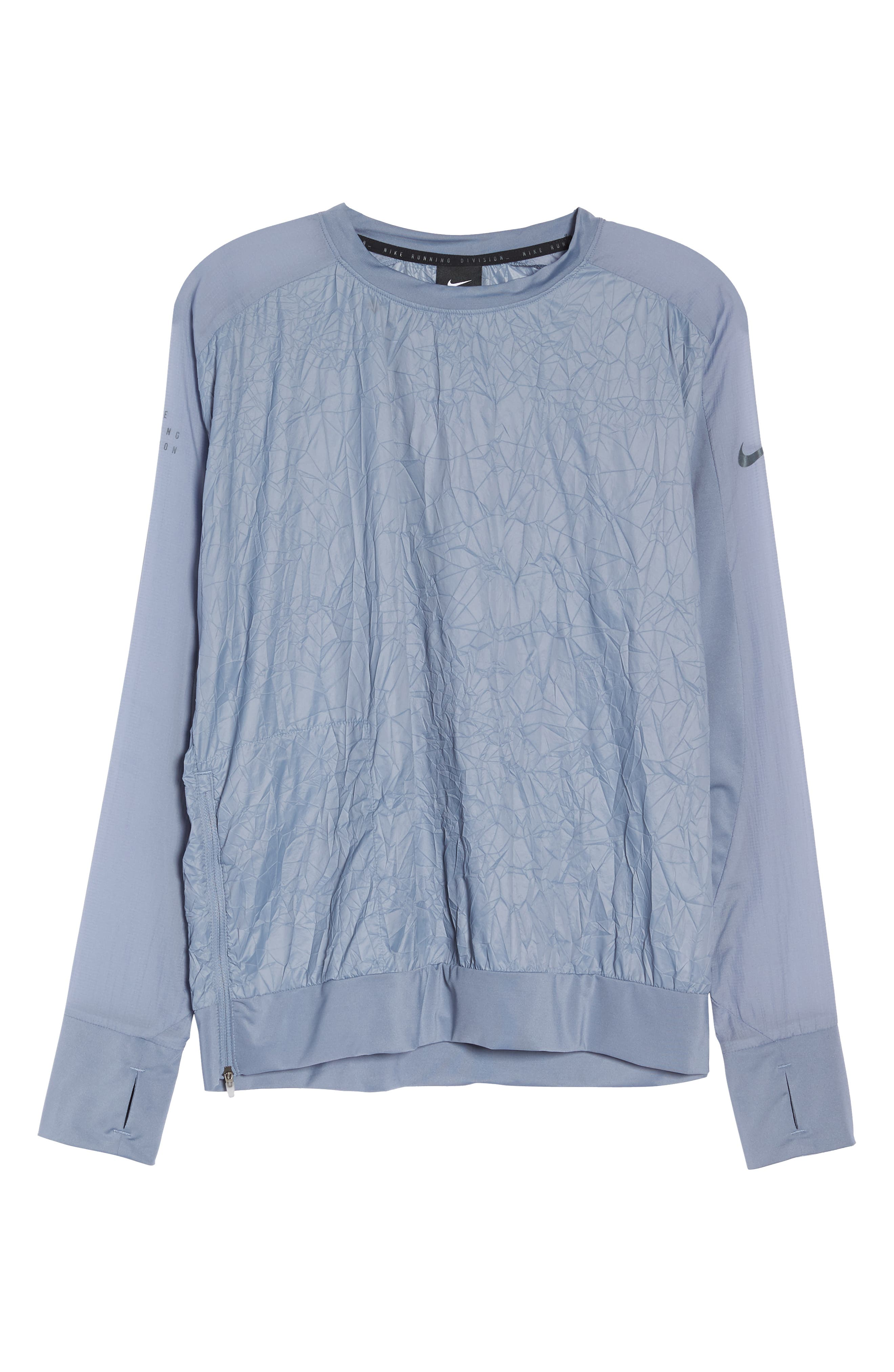 Water Repellent Pullover Running Jacket,                             Alternate thumbnail 7, color,                             020