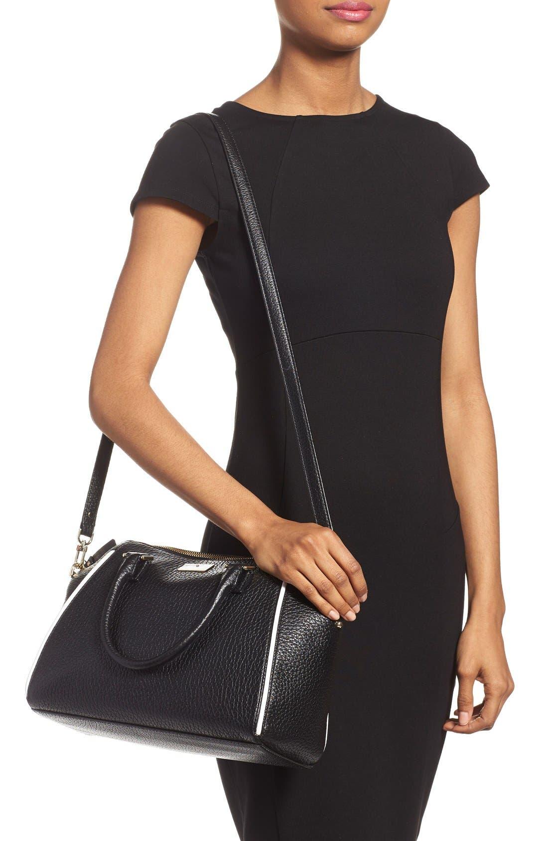 'prospect place - pippa' leather satchel,                             Alternate thumbnail 5, color,                             001