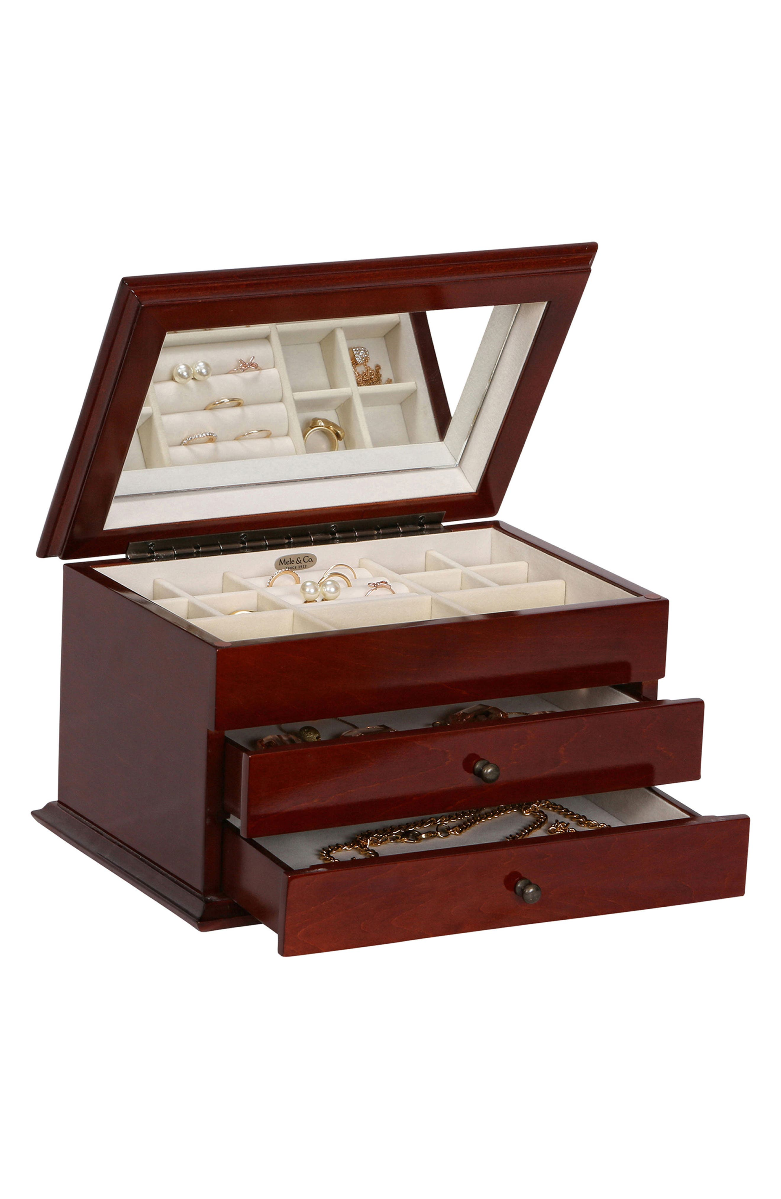 Brayden Wooden Jewelry Box,                             Alternate thumbnail 3, color,                             200