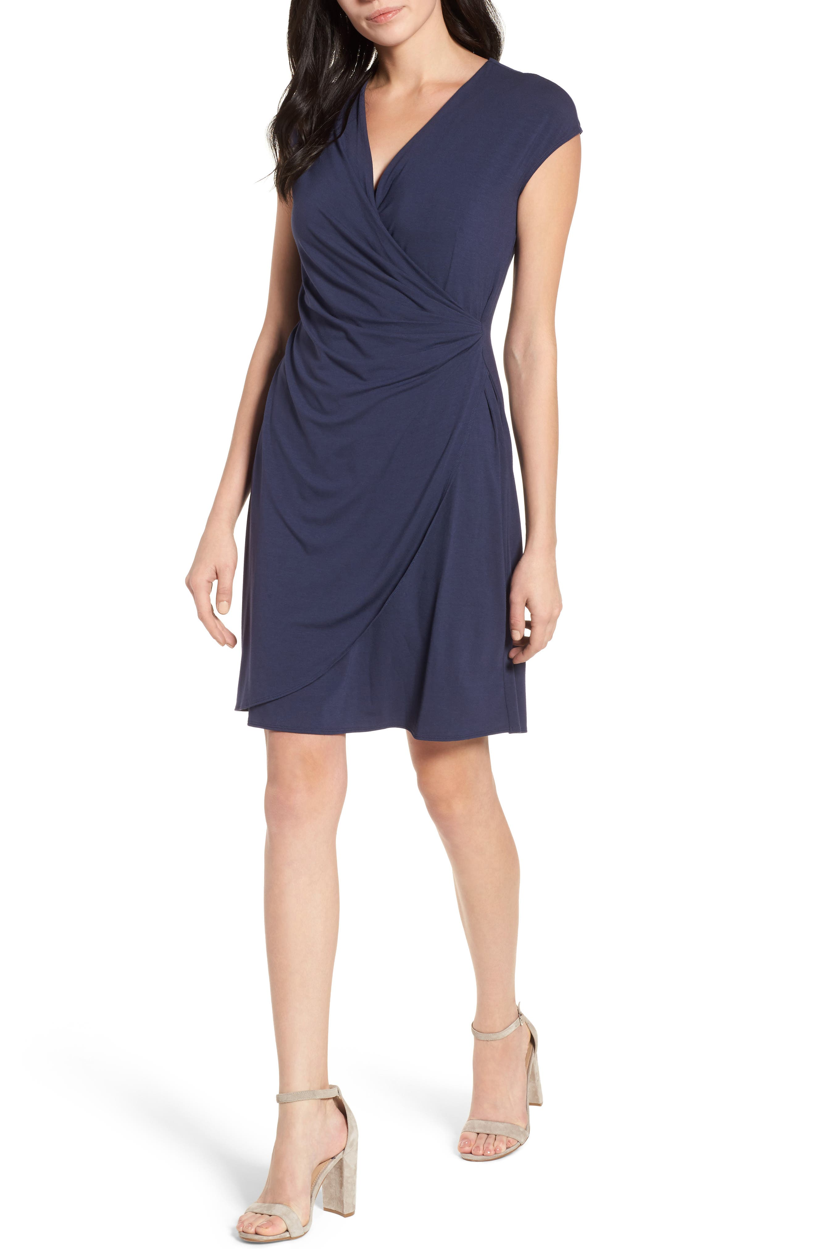 'Tambour' Side Gathered Dress,                             Main thumbnail 2, color,