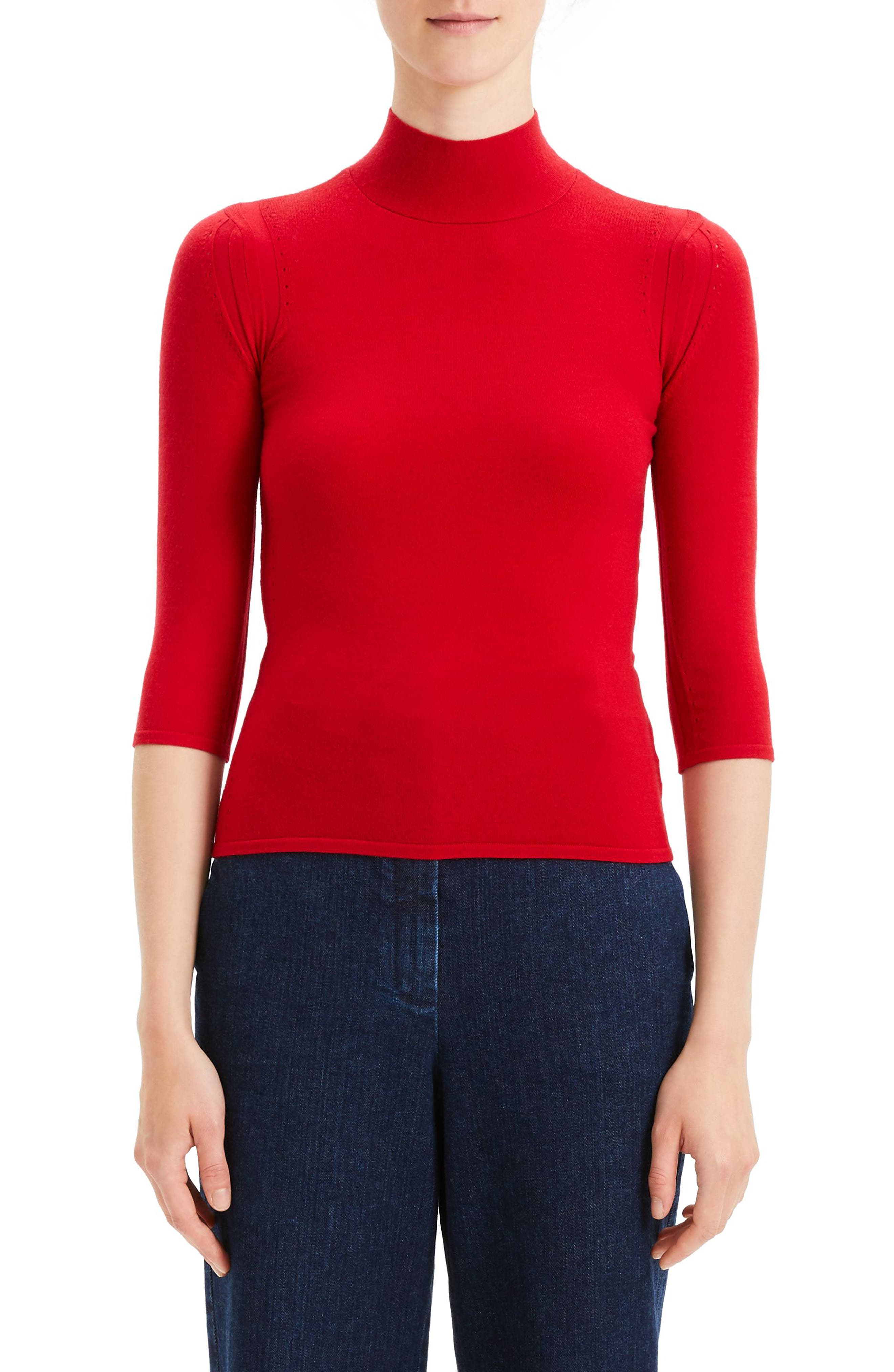 Theory Fitted Merino Wool Blend Shell