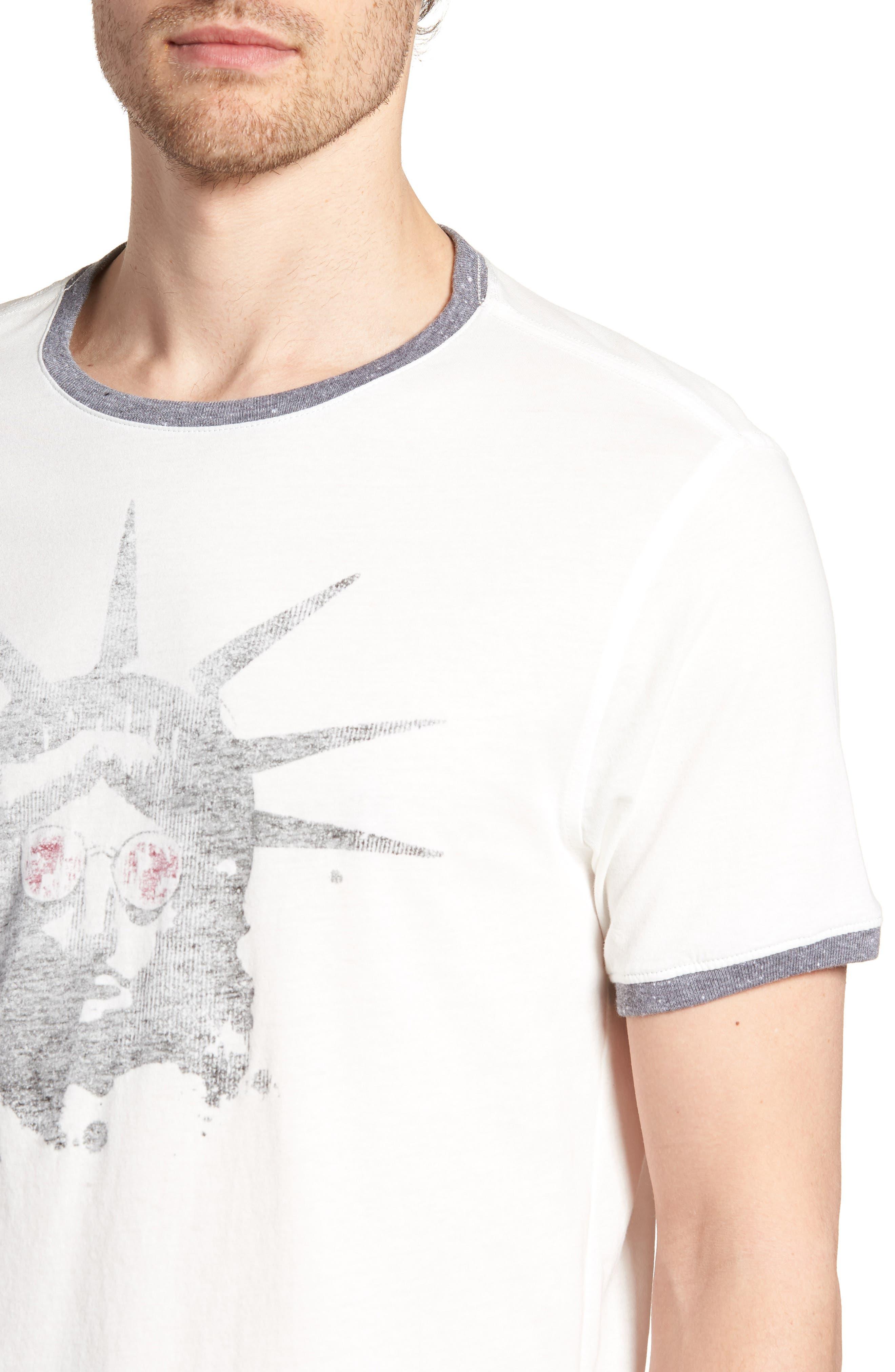 Liberty Shades Crewneck T-Shirt,                             Alternate thumbnail 4, color,                             103