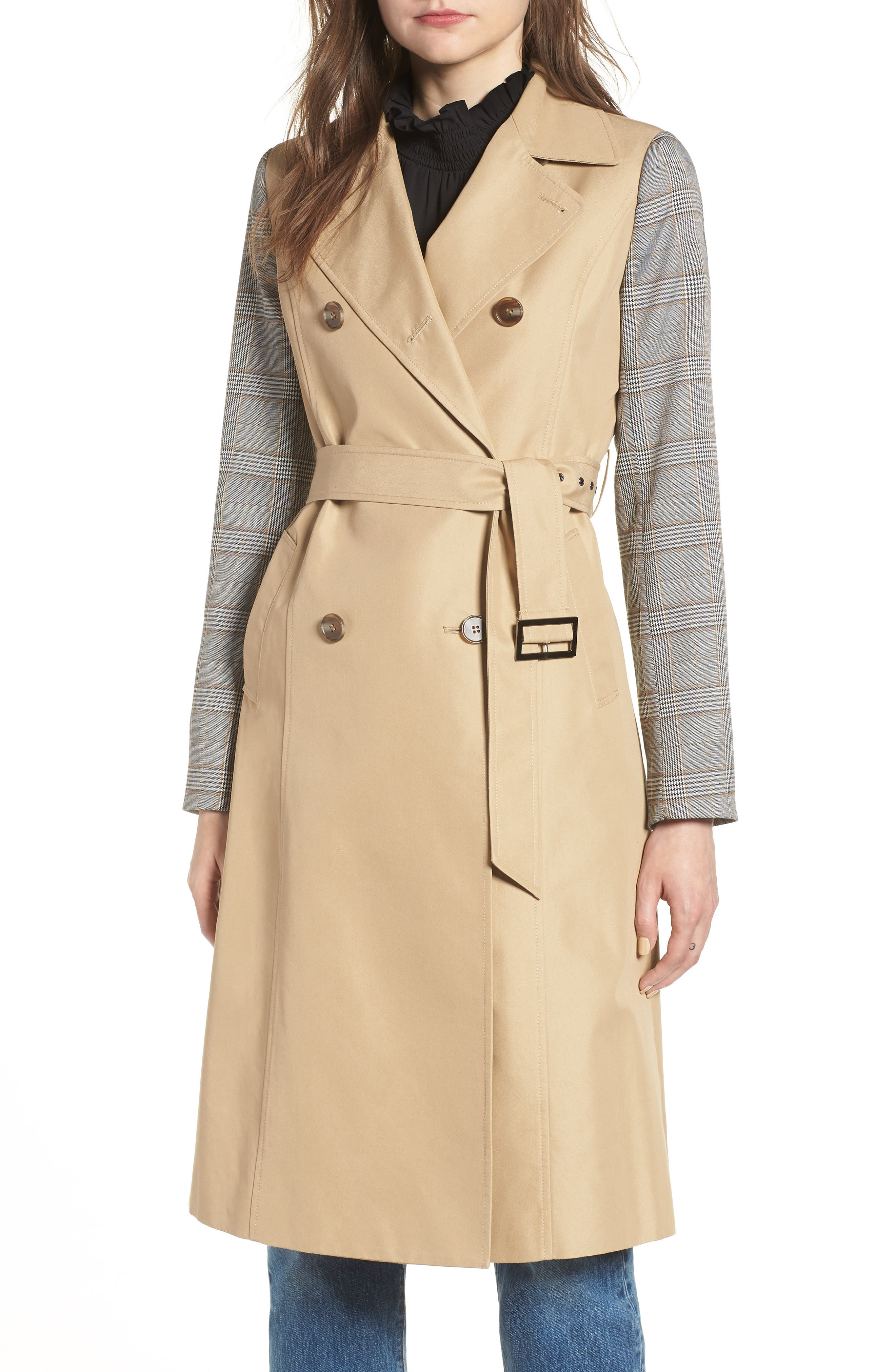 Belted Trench,                             Main thumbnail 1, color,                             200